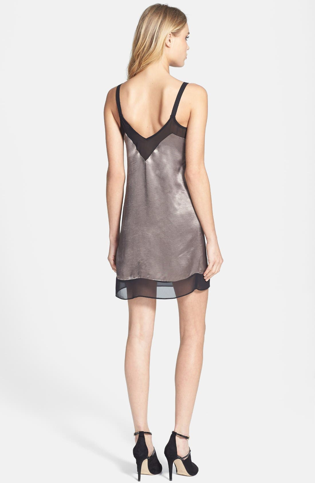 Alternate Image 2  - Topshop Chiffon Trim Slipdress