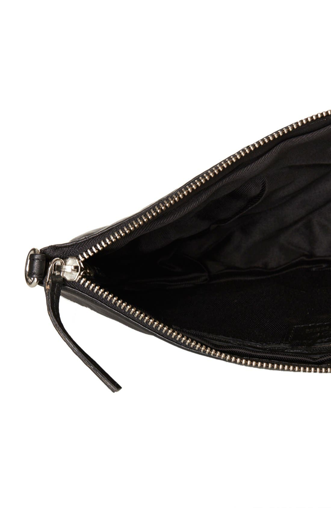 Alternate Image 3  - Topshop Metal Corner Quilted Leather Clutch