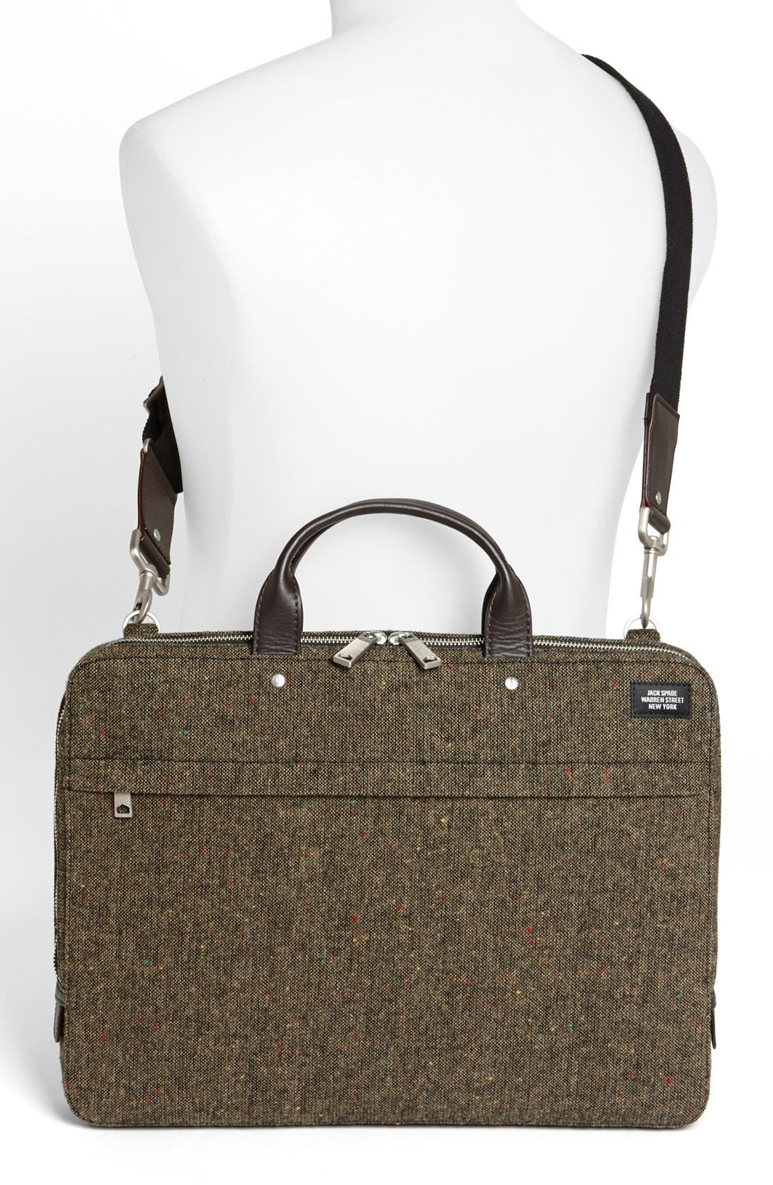 Alternate Image 4  - Jack Spade Donegal Tweed Slim Wool Briefcase