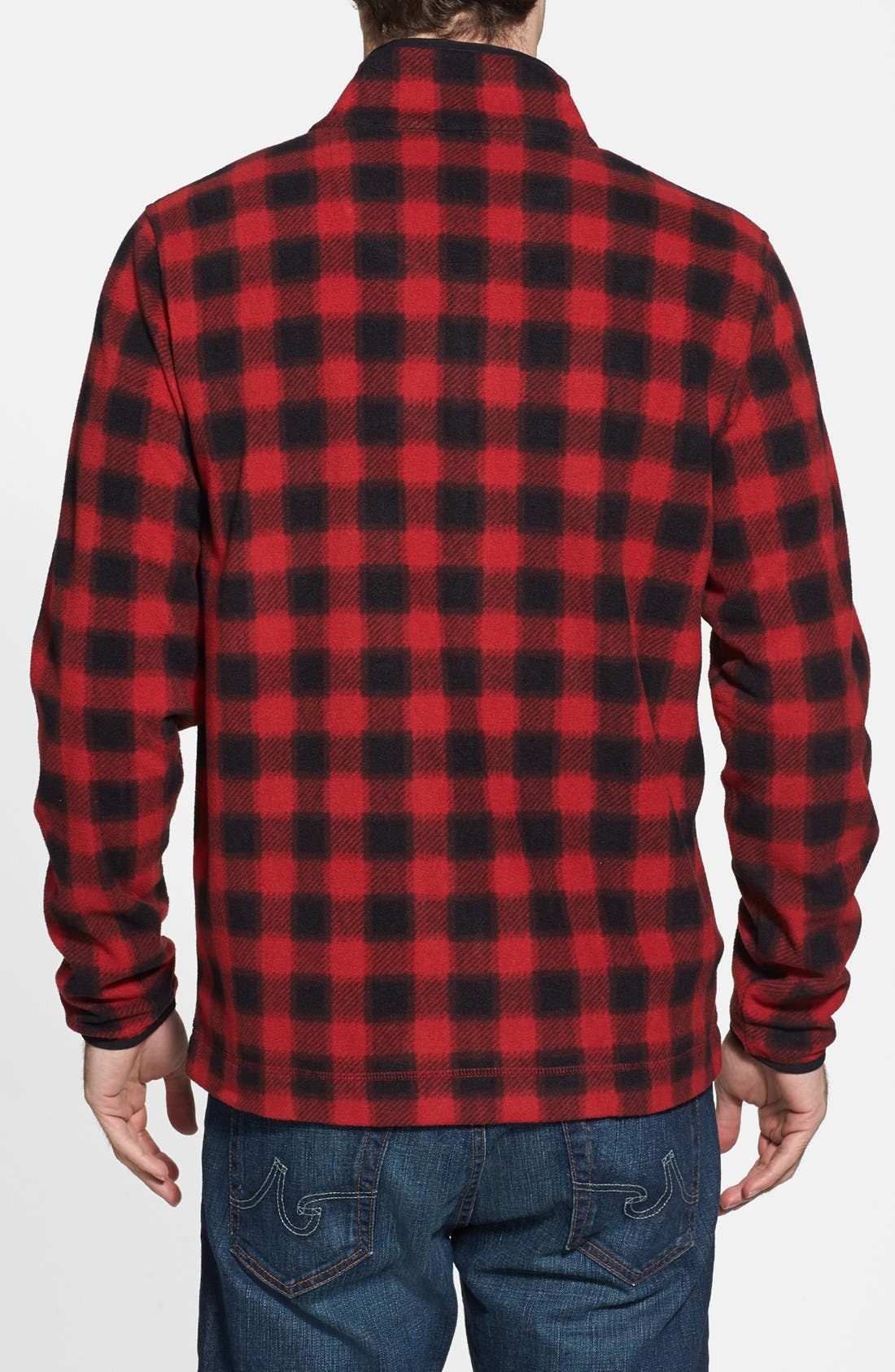 Alternate Image 2  - Wallin & Bros. Trim Fit Plaid Full Zip Fleece