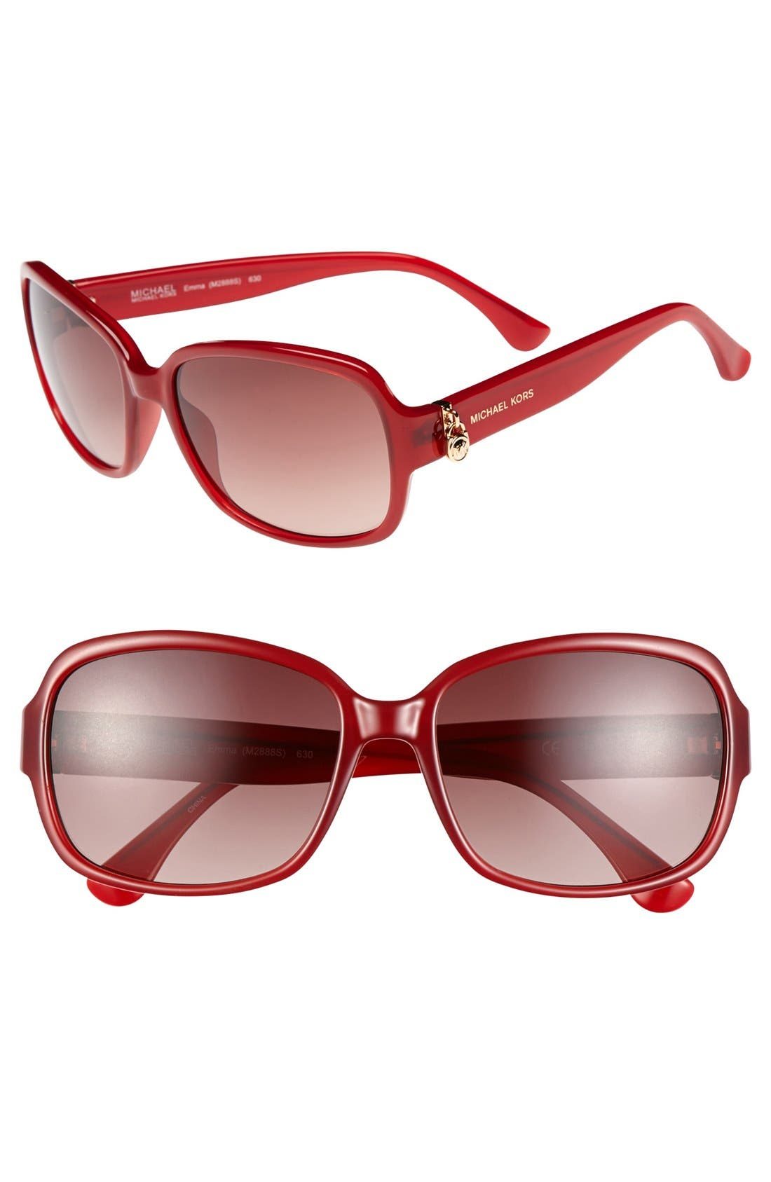 Alternate Image 1 Selected - MICHAEL Michael Kors 'Emma' 57mm Sunglasses