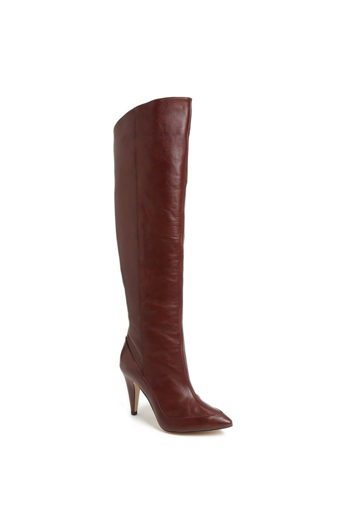 Alternate Image 1 Selected - Topshop 'Betty' Asymmetric Over-the-Knee Boot