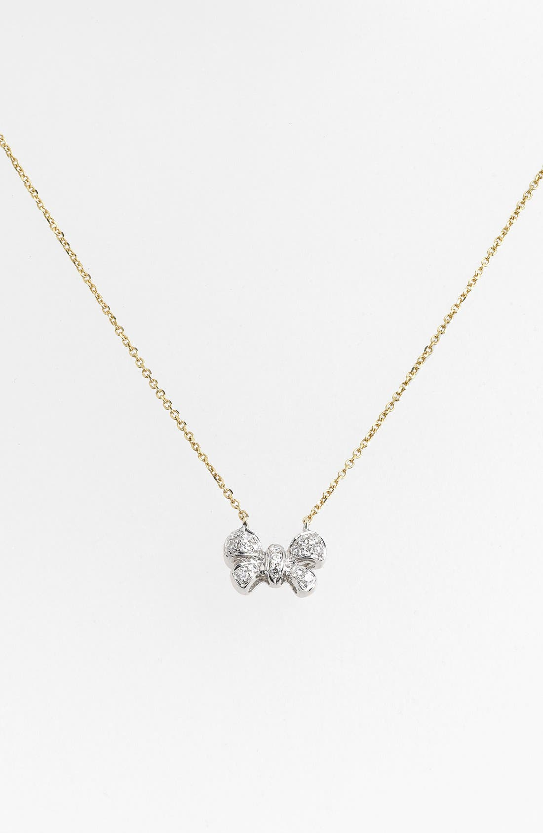 Alternate Image 2  - Dana Rebecca Designs 'Margo Ashley' Diamond Bow Pendant Necklace