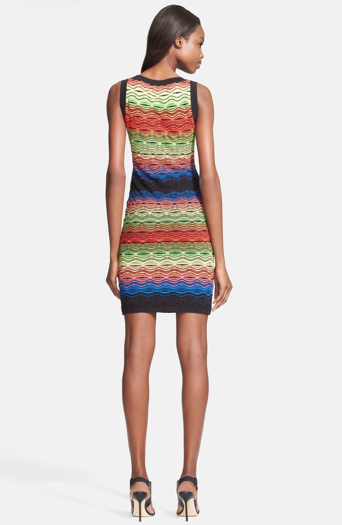 Alternate Image 2  - M Missoni Ripple Stitch Cotton Blend Knit Dress