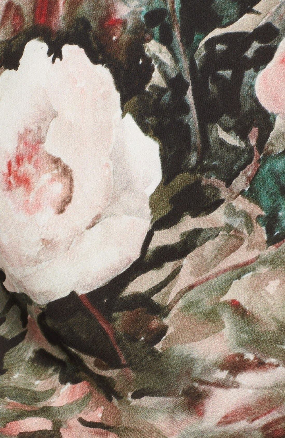 Alternate Image 3  - Haute Hippie Floral Print Silk Dress
