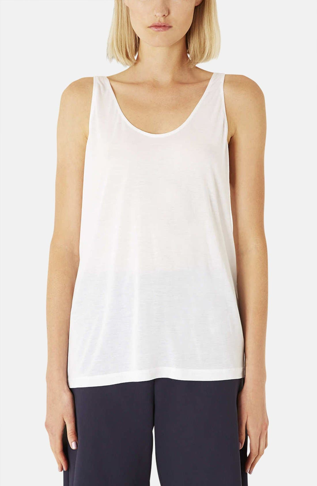Main Image - Topshop Boutique Relaxed Modal & Cashmere Tank