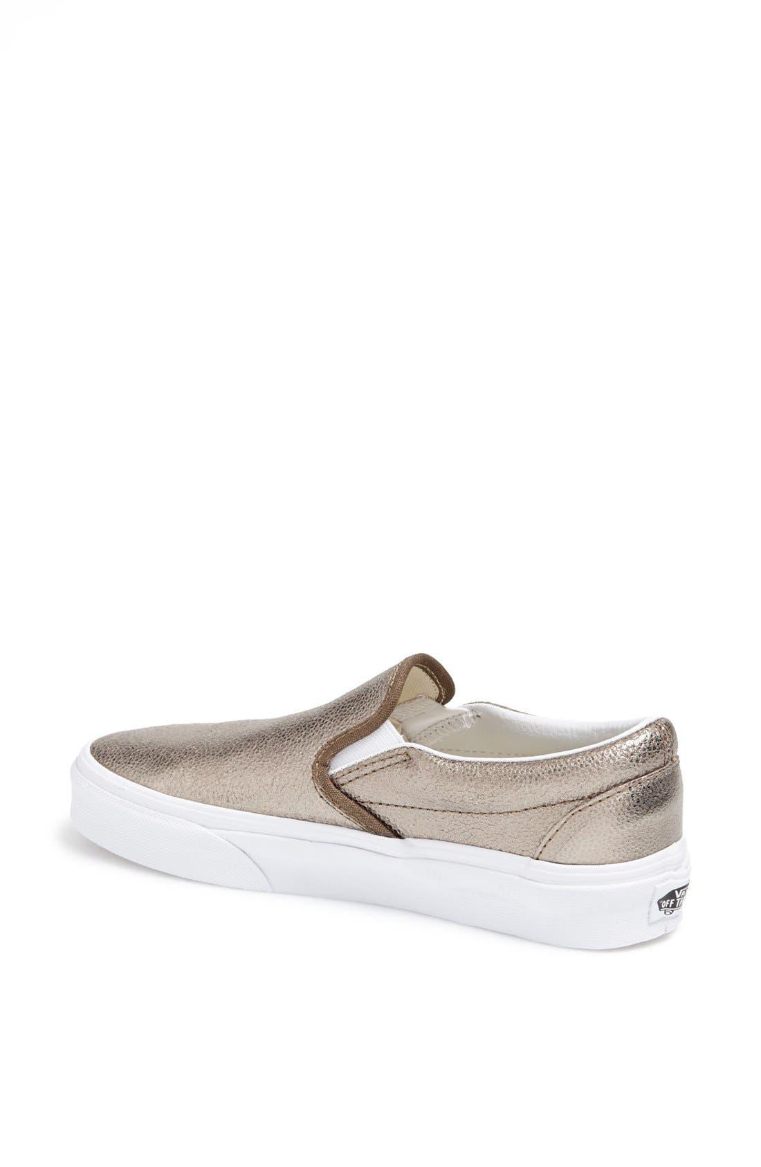 Alternate Image 2  - Vans Metallic Slip-On Sneaker (Women)