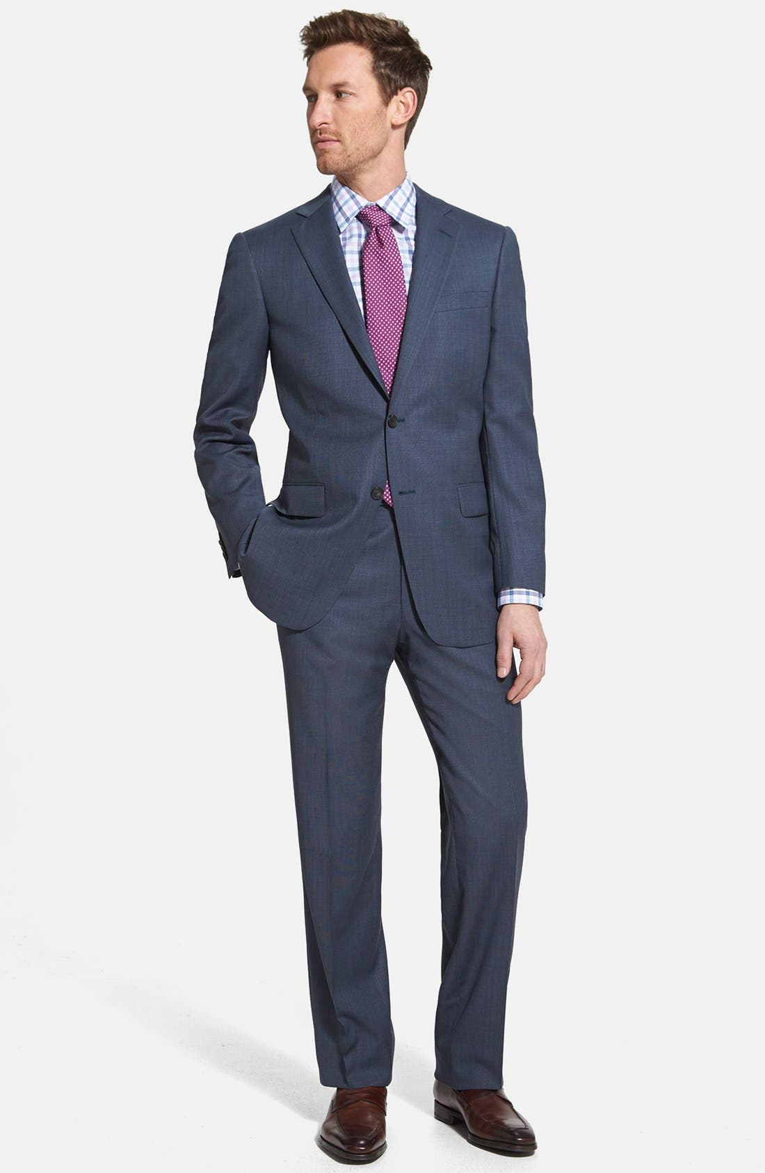 Alternate Image 1 Selected - NY 2BTN SV FF CLASSIC FIT SUIT