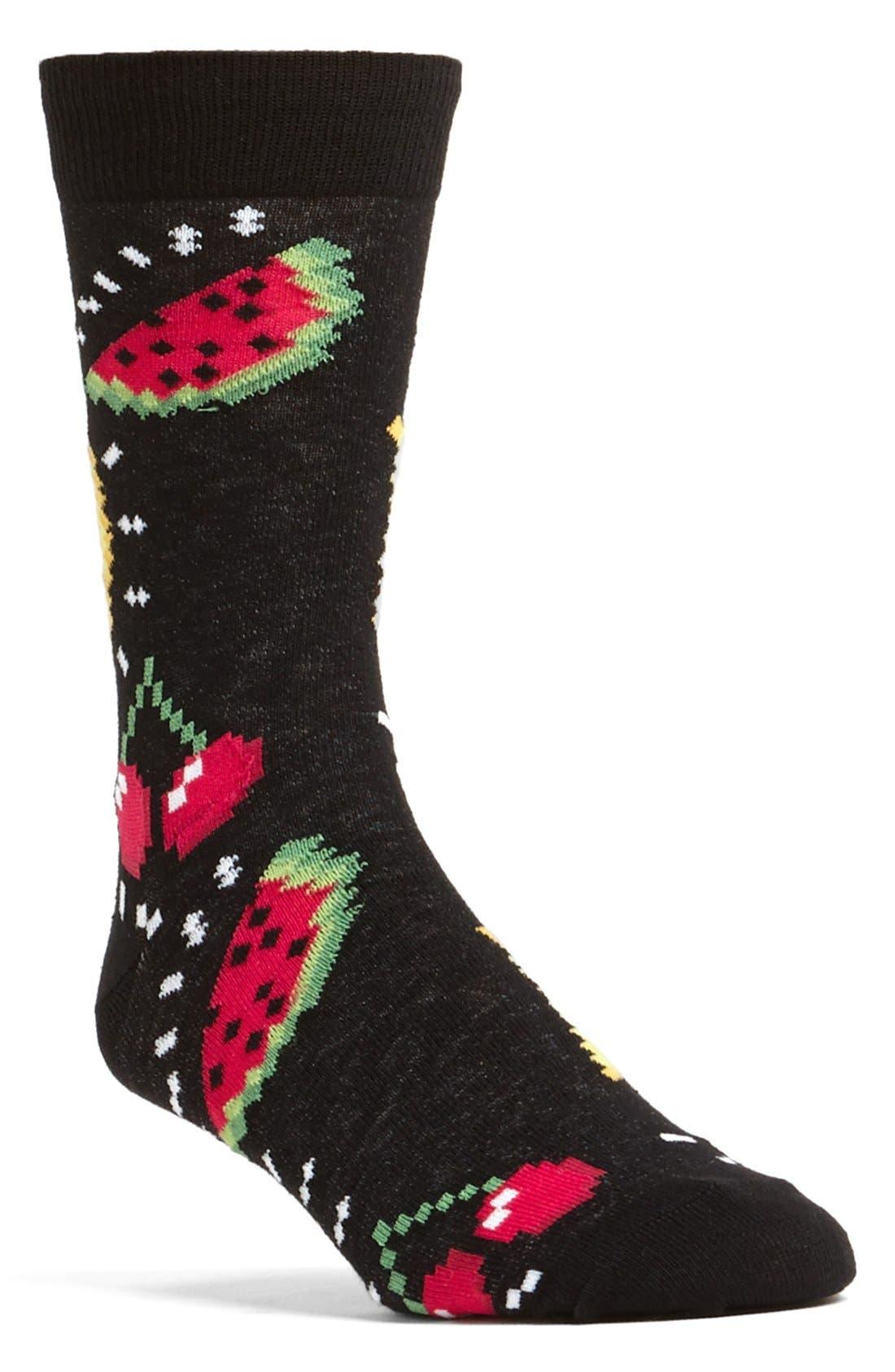 Alternate Image 1 Selected - Topman Fruit Pattern Socks