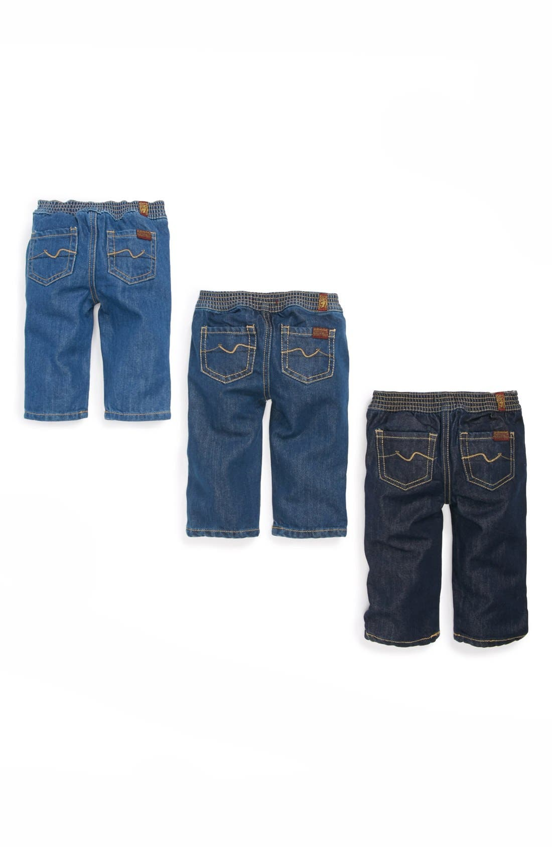 Alternate Image 1 Selected - 7 For All Mankind® Denim Jeans (3-Pack) (Baby)