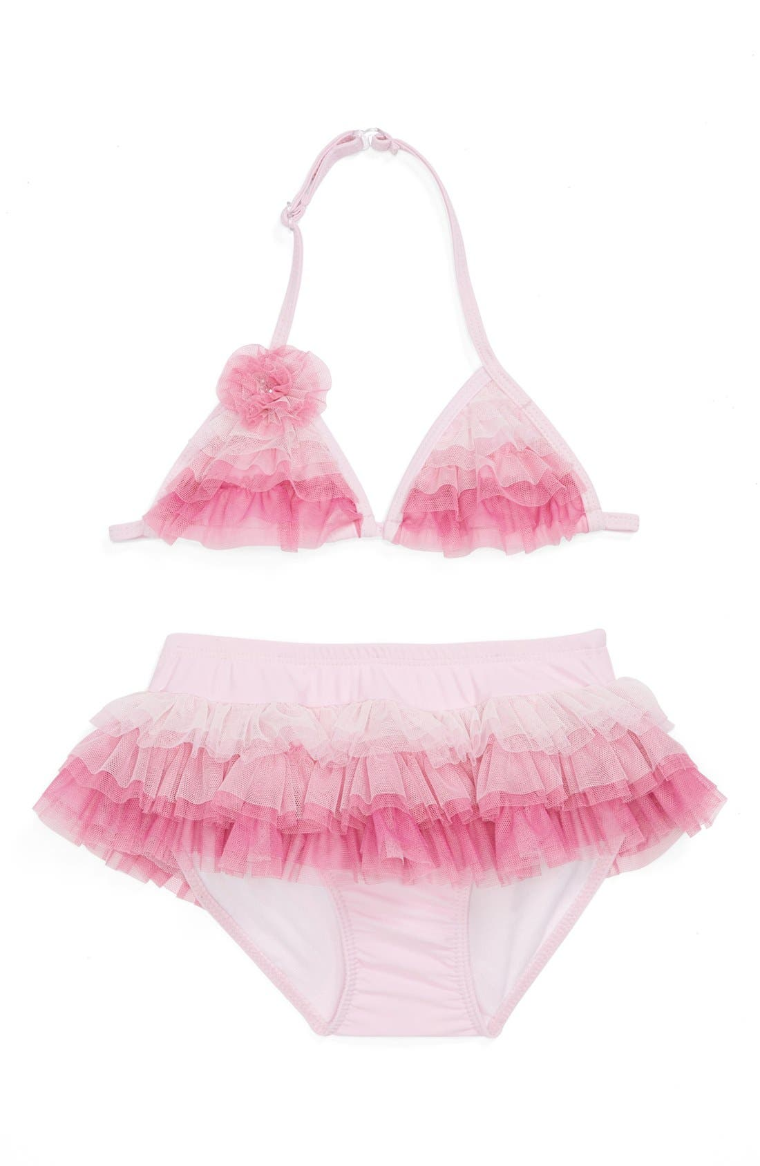 Alternate Image 1 Selected - Isobella & Chloe Two-Piece Swimsuit (Little Girls)