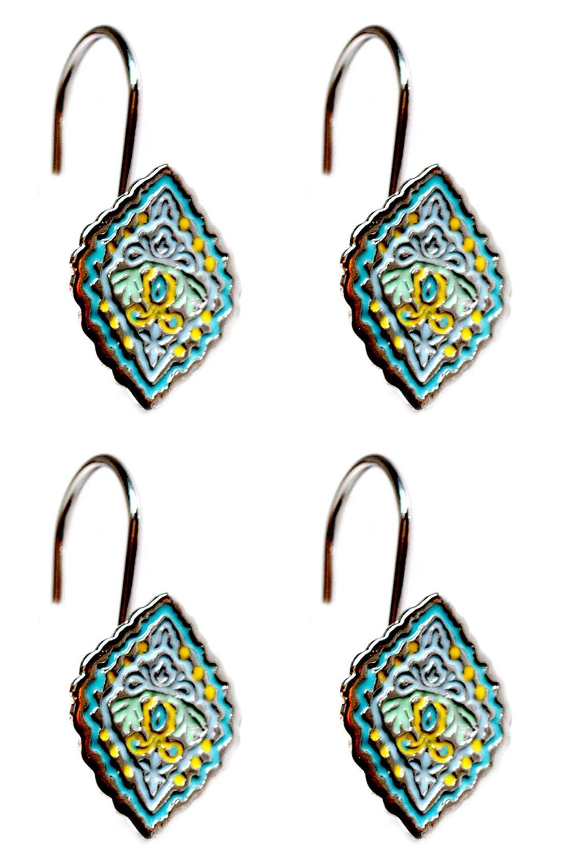 Alternate Image 1 Selected - Dena Home Diamond Shower Curtain Hooks (Set of 12)