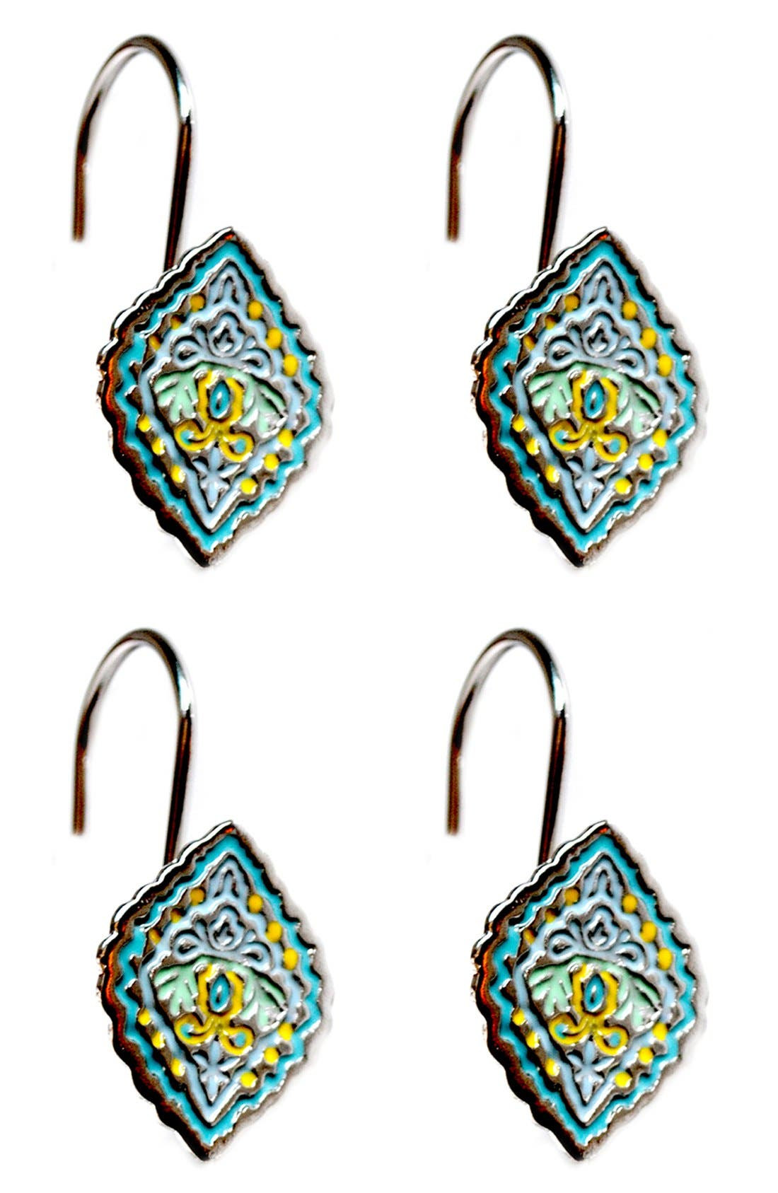 Main Image - Dena Home Diamond Shower Curtain Hooks (Set of 12)