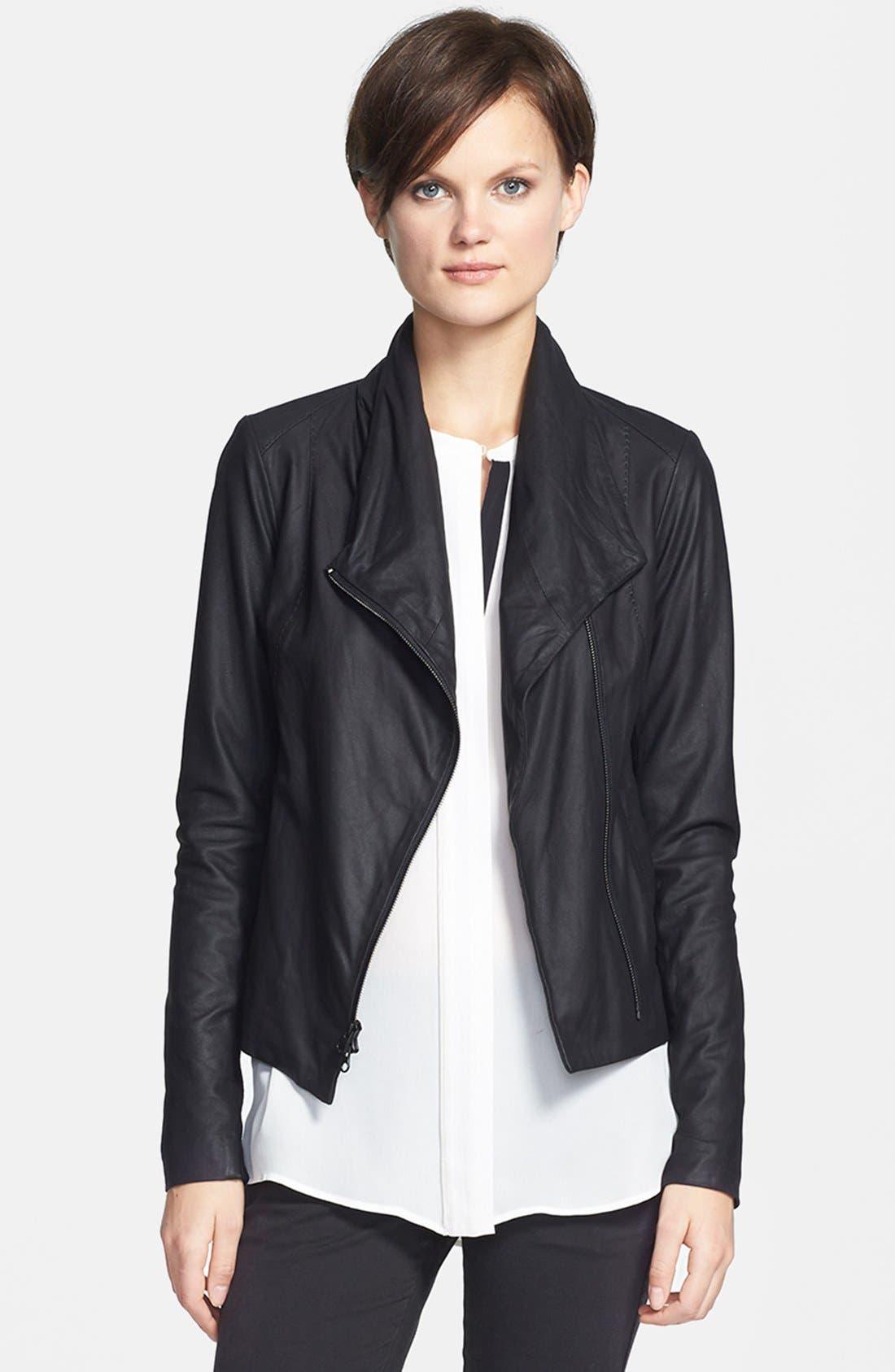 Main Image - Vince Leather Scuba Jacket
