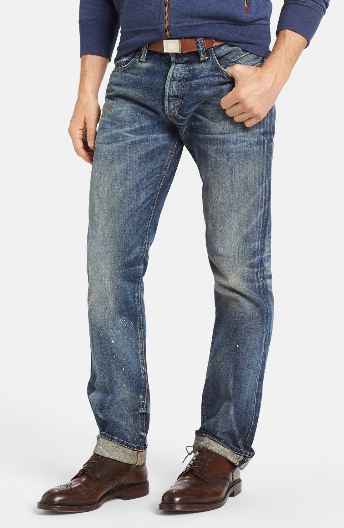 Alternate Image 1 Selected - Polo Ralph Lauren Slim Fit Jeans (Linden Rinse)