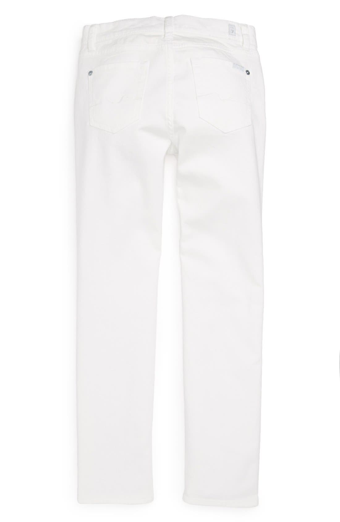 Alternate Image 1 Selected - 7 For All Mankind® 'The Skinny' Jeans (Little Girls & Big Girls)