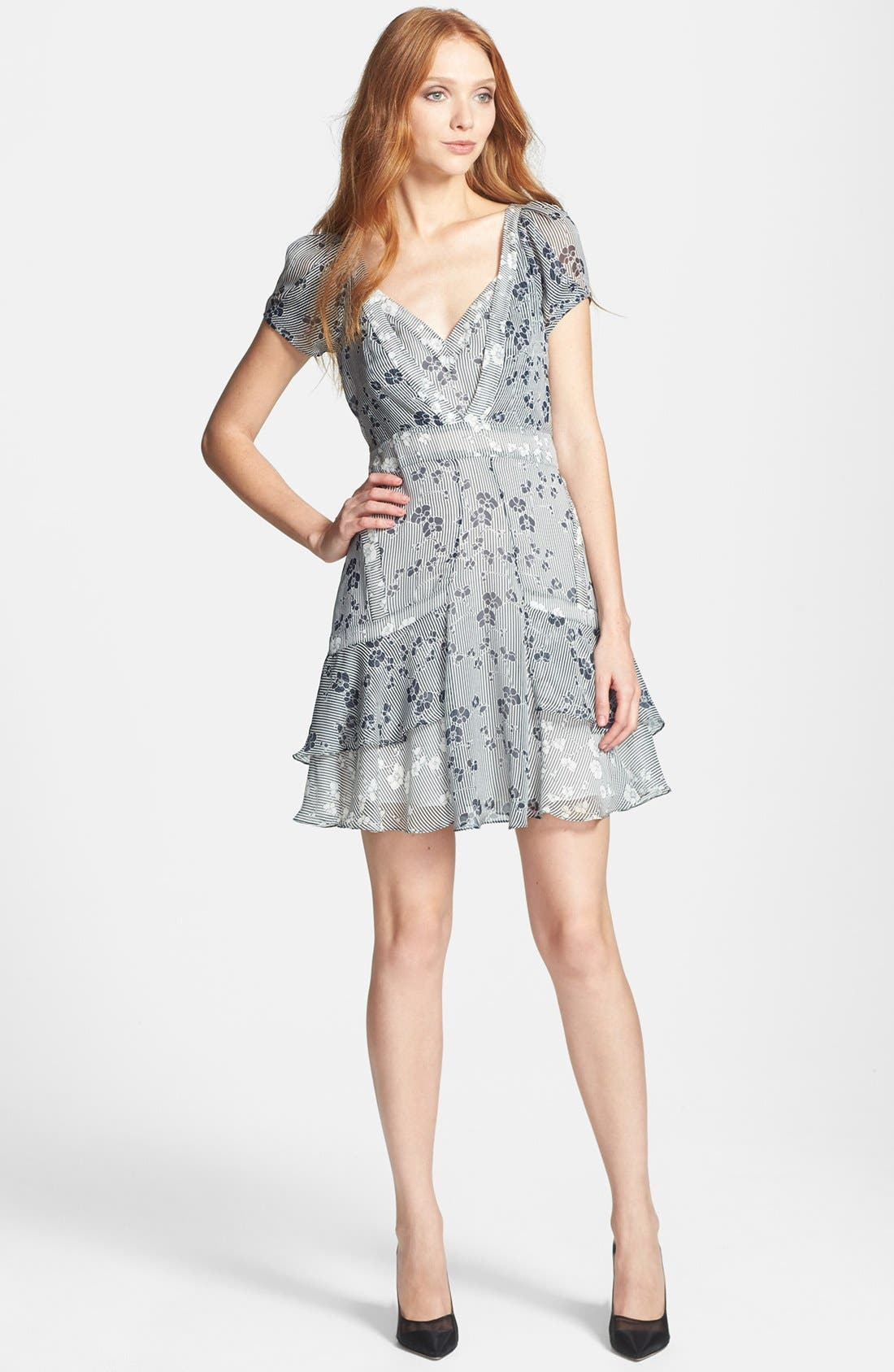 Alternate Image 1 Selected - Diane von Furstenberg 'Heidi' Print Silk A-Line Dress