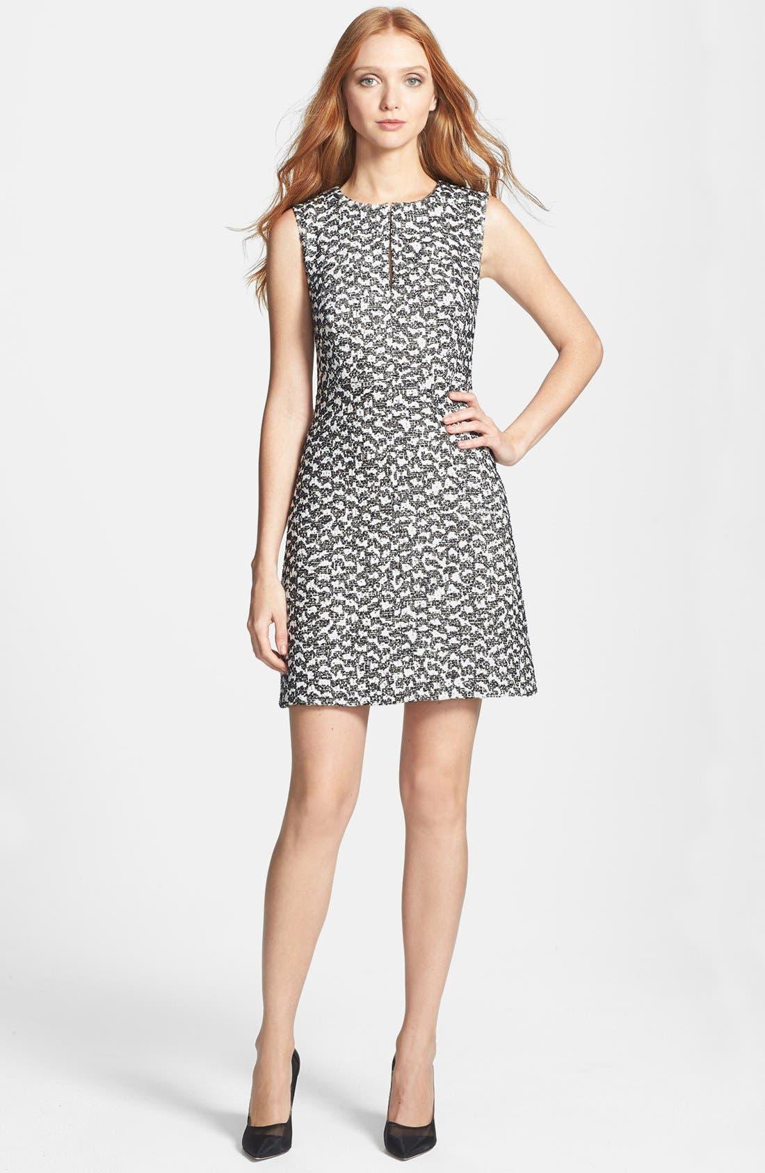 Alternate Image 1 Selected - Diane von Furstenberg 'Yvette' Cotton Blend A-Line Dress