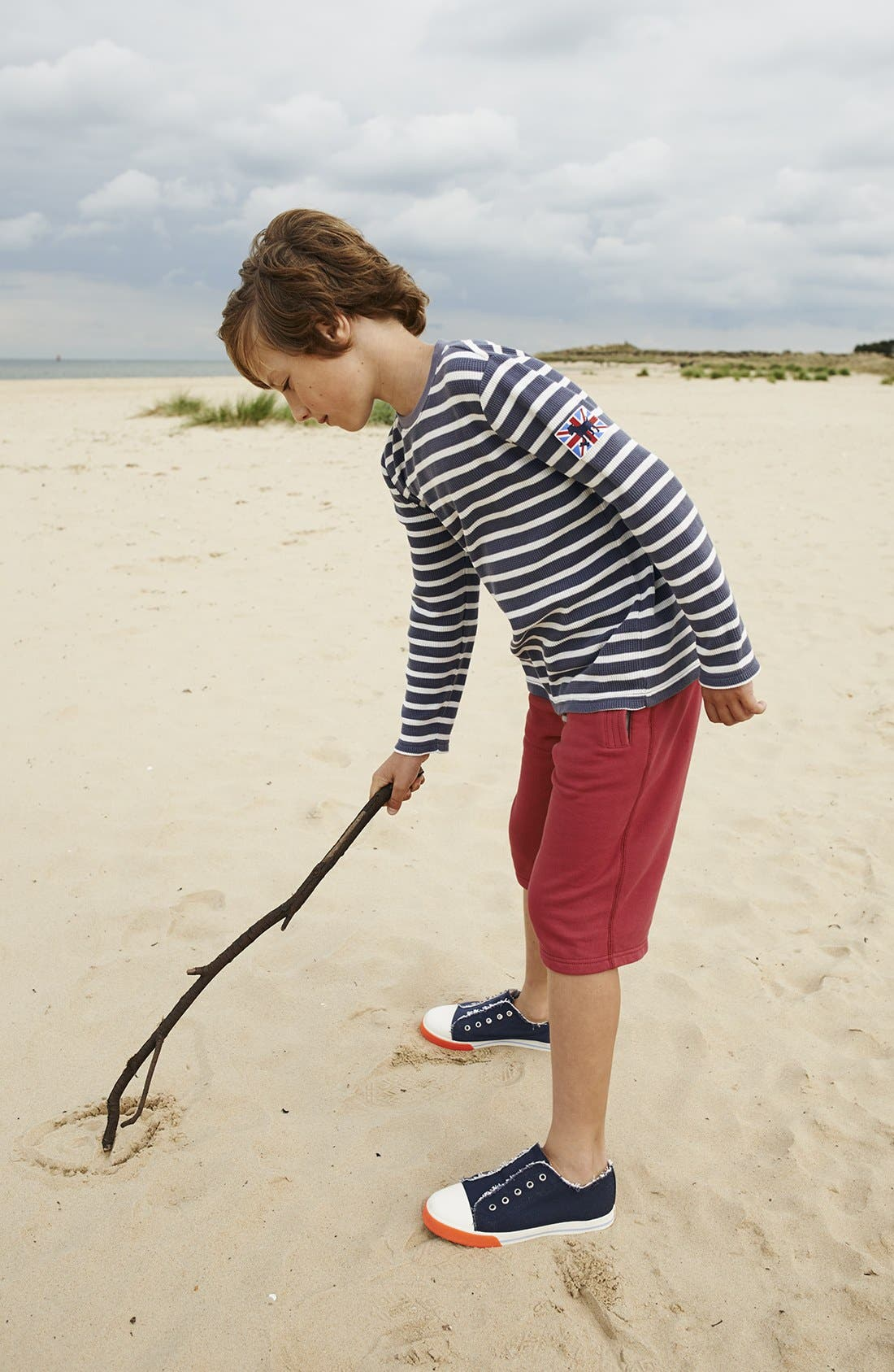 Alternate Image 2  - Mini Boden Knit Shorts (Toddler Boys, Little Boys & Big Boys)