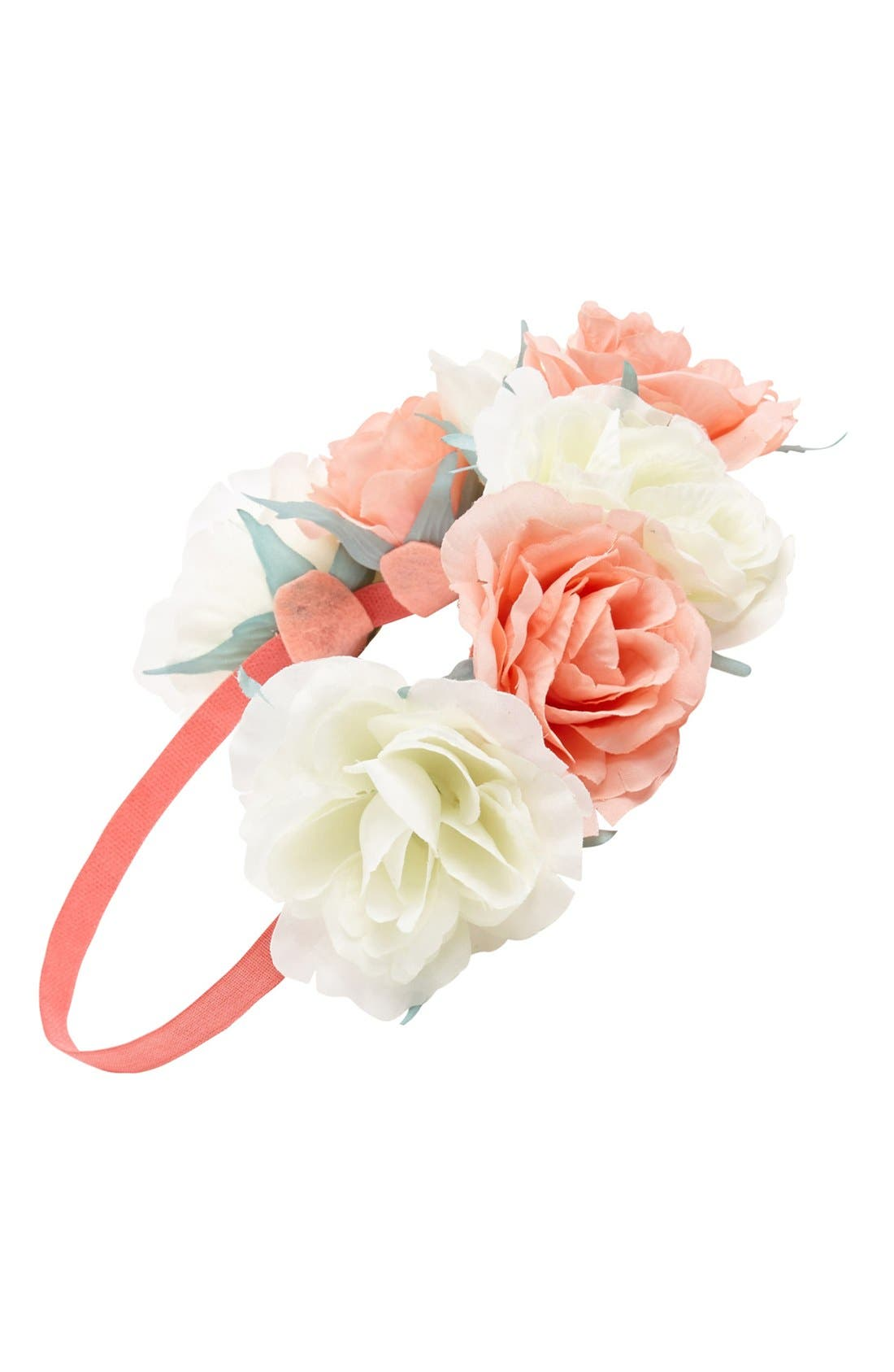 Main Image - Capelli of New York Oversized Floral Crown Headband (Juniors) (Online Only)