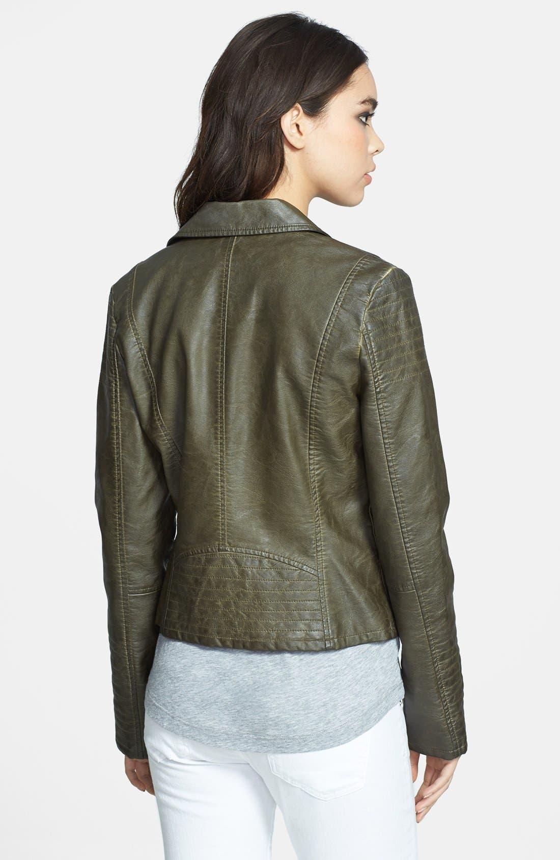 Alternate Image 2  - BB Dakota 'Dita' Faux Leather Moto Jacket