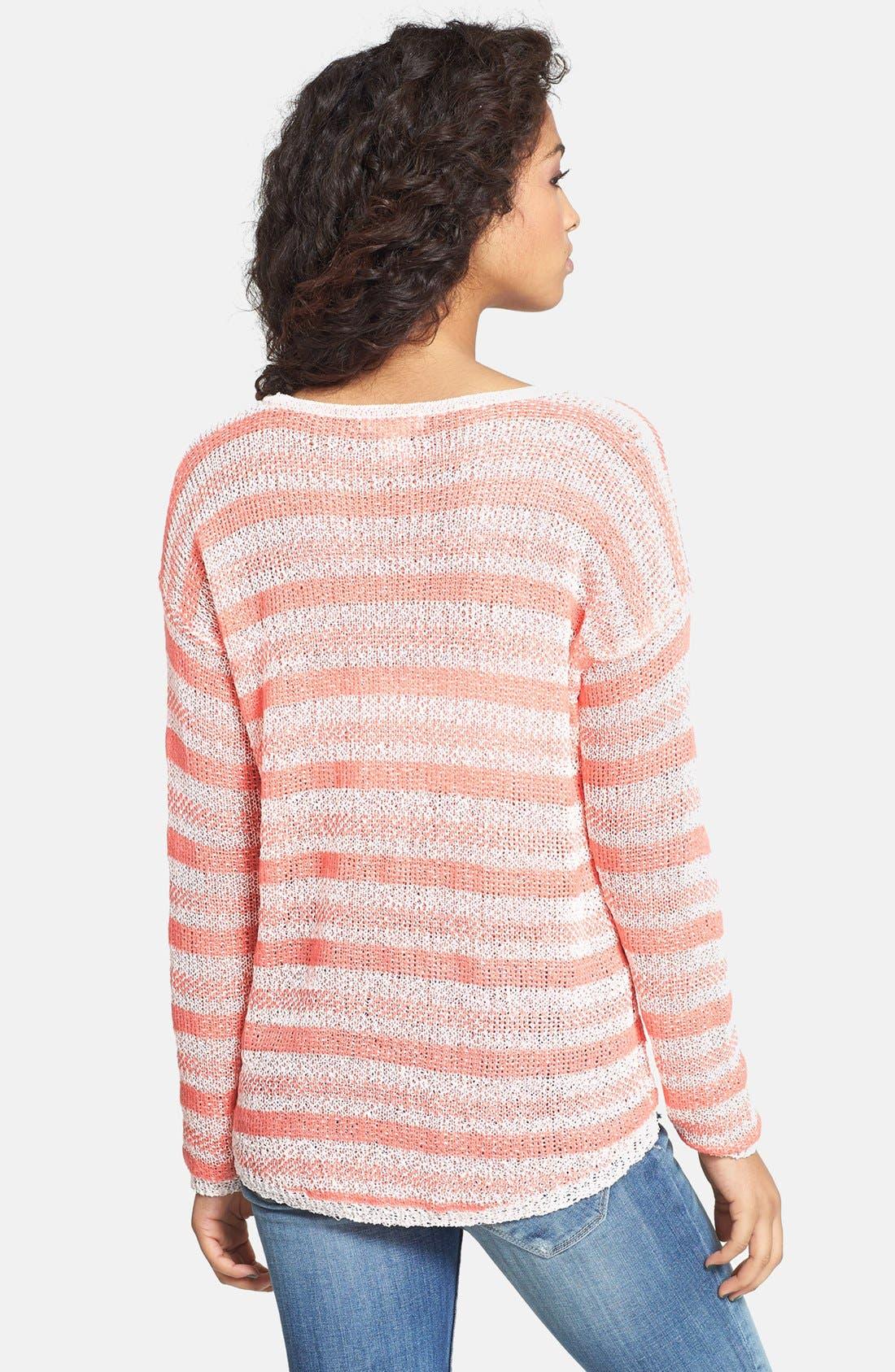 Alternate Image 2  - Love on a Hanger Chevron Knit Pullover (Juniors)