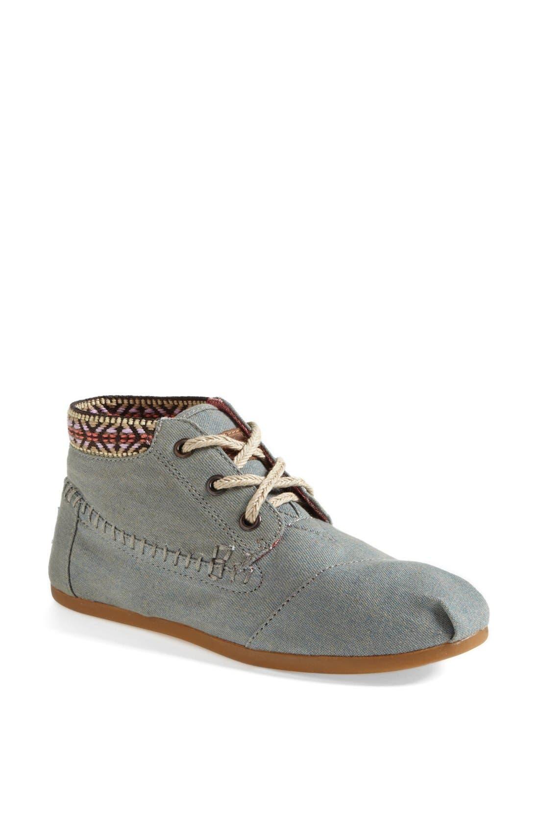 Alternate Image 1 Selected - TOMS 'Desert' Burlap & Cotton Boot (Women)