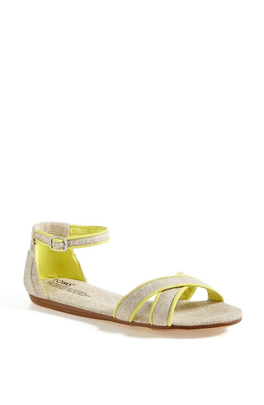 Main Image - TOMS 'Correa' Ankle Strap Flat Sandal