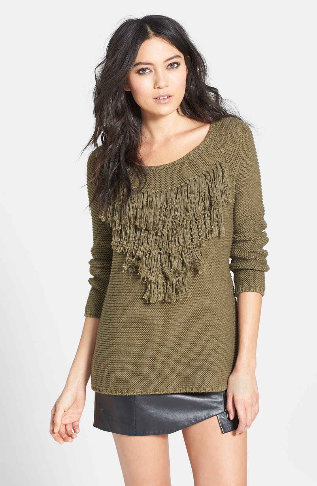 Alternate Image 1 Selected - Knot Sisters 'Lady Fox' Fringe Sweater