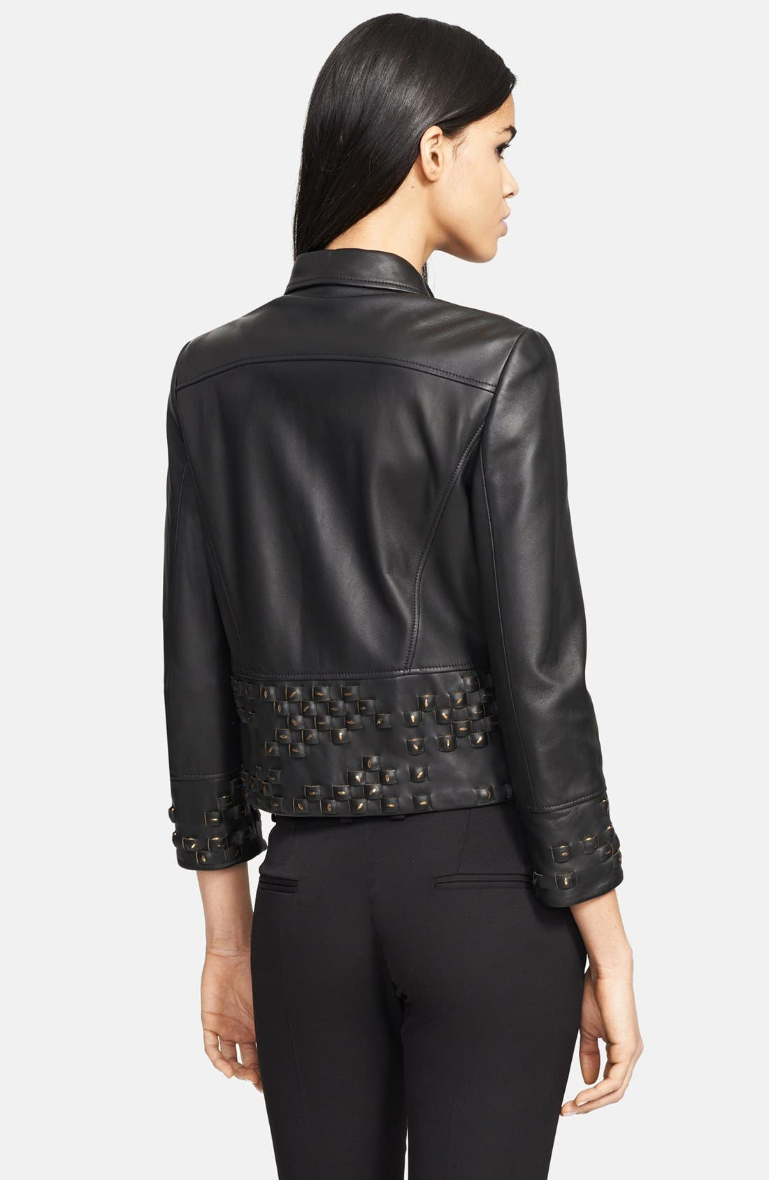 Alternate Image 2  - Versace Collection Studded Leather Jacket
