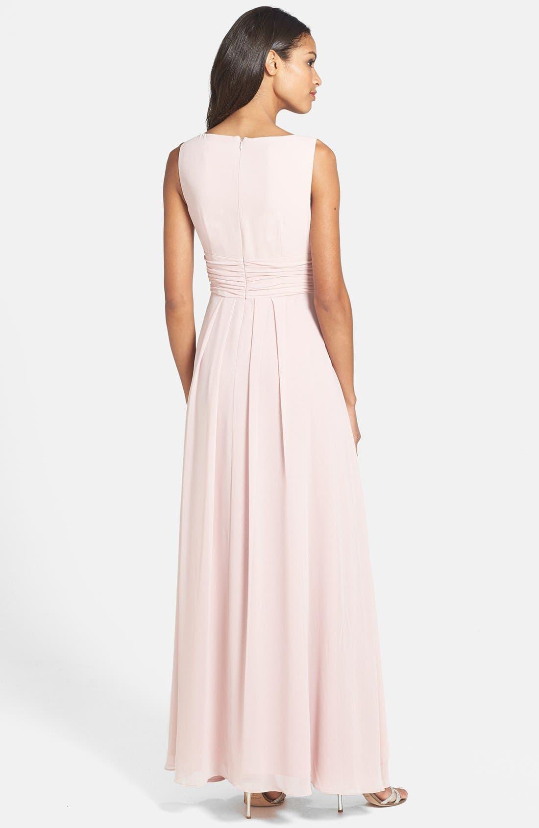 Alternate Image 2  - Eliza J Front Drape Chiffon Dress