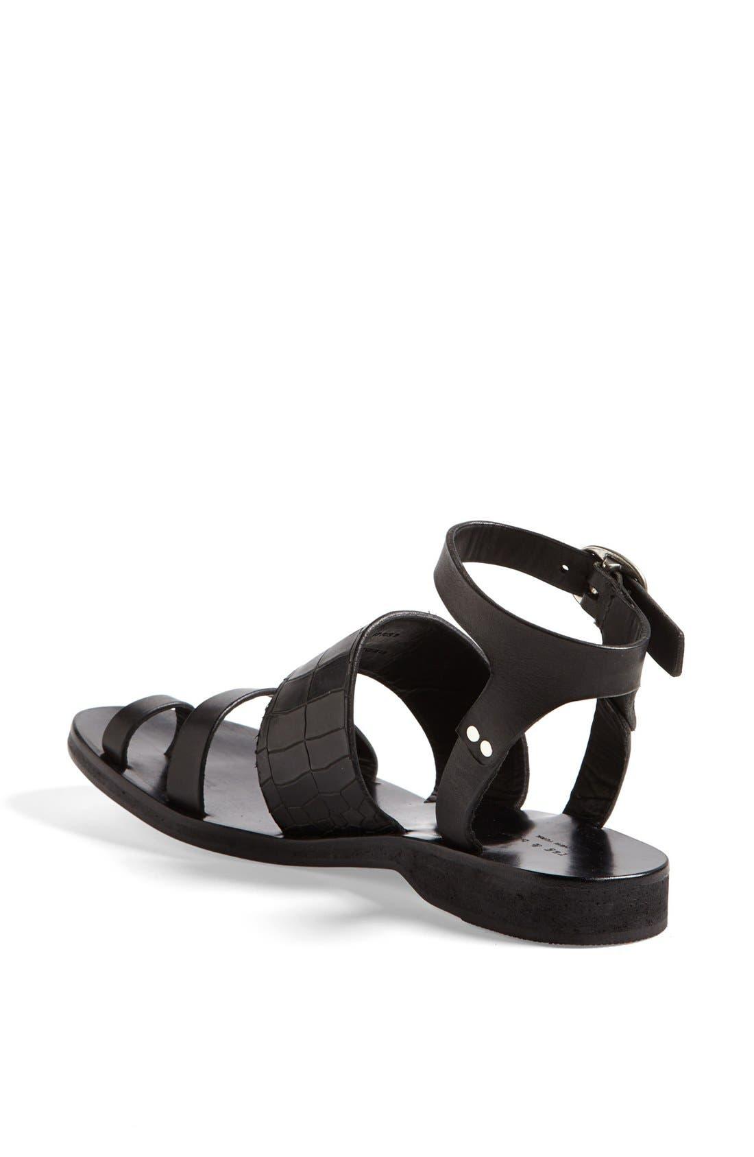 Alternate Image 2  - rag & bone 'Chartan' Croc Embossed Sandal