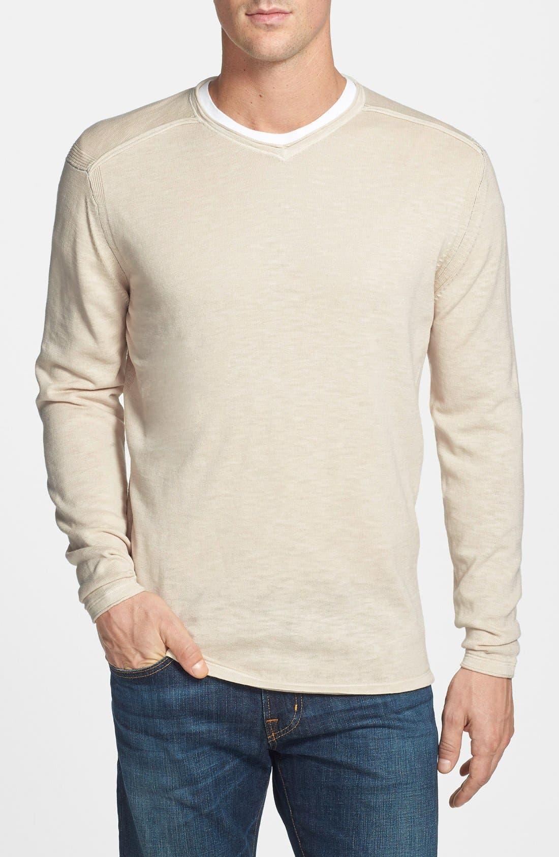 Main Image - Tommy Bahama Denim 'Sandstone Beach' Cotton V-Neck Sweatshirt