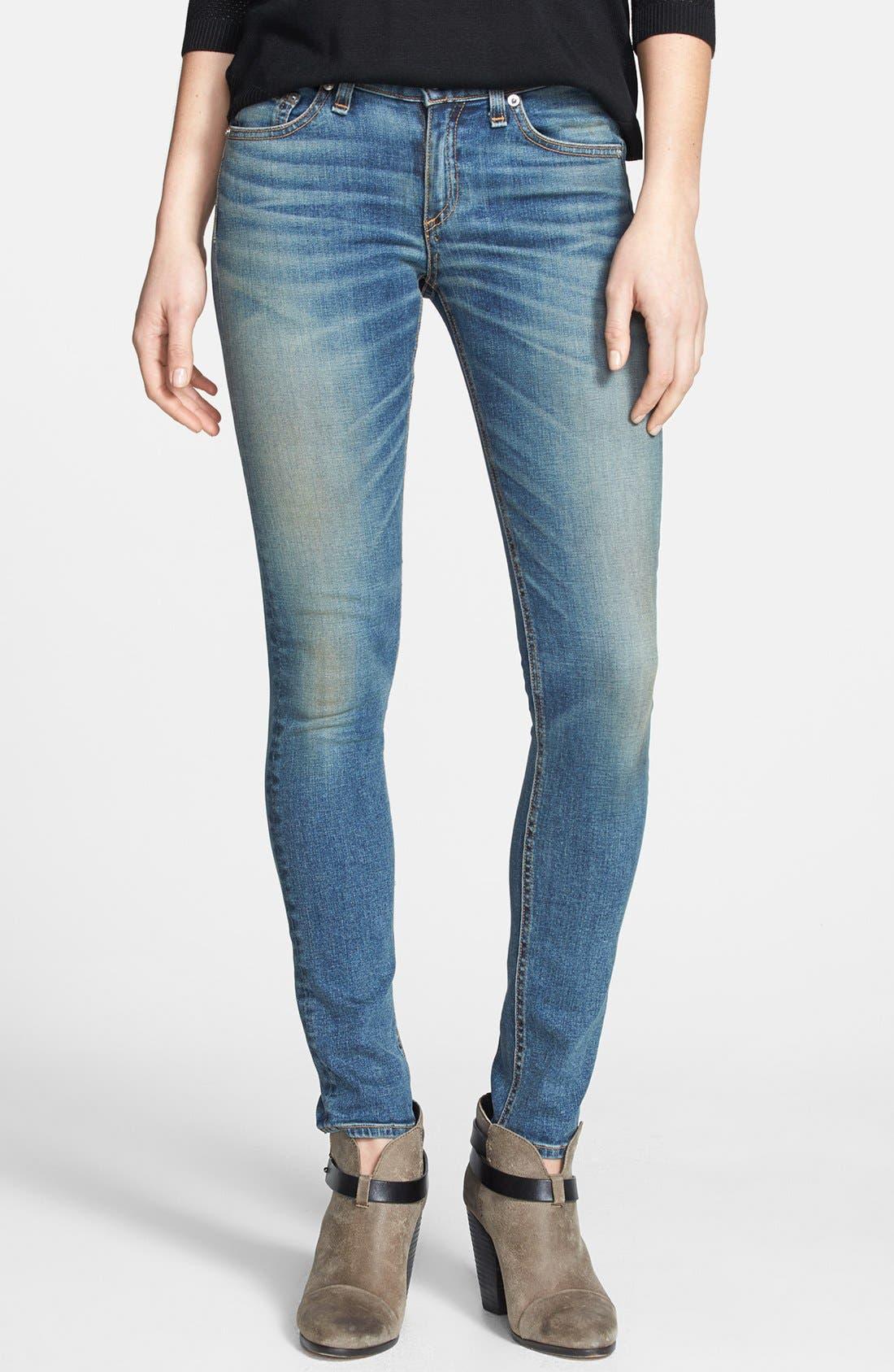 Alternate Image 1 Selected - rag & bone/JEAN Skinny Stretch Jeans (Brimfield)