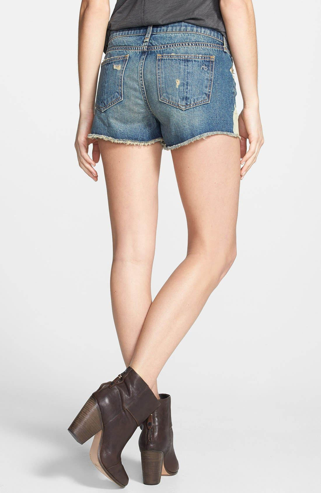 Alternate Image 3  - rag & bone/JEAN Cutoff Denim Shorts