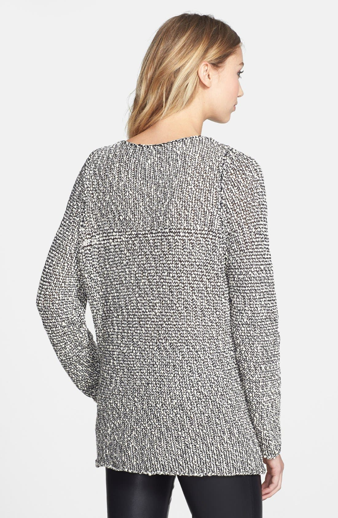 Alternate Image 2  - Knot Sisters 'Dre' Mixed Knit Tunic Sweater
