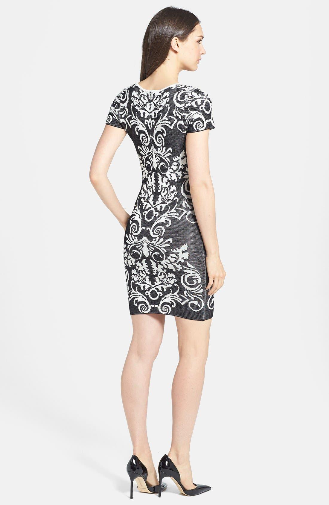 Alternate Image 2  - Parker 'Adele' Intarsia Body-Con Dress