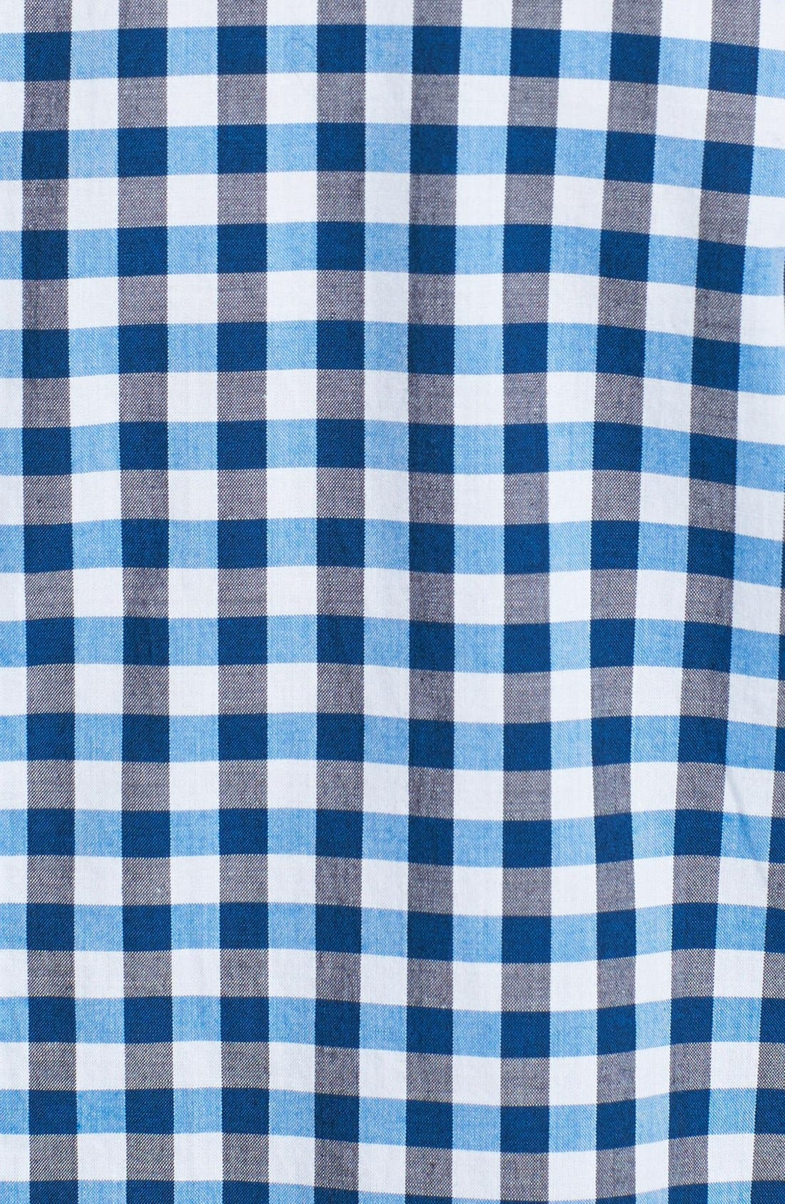 Alternate Image 3  - Fred Perry Tricolor Gingham Short Sleeve Sport Shirt