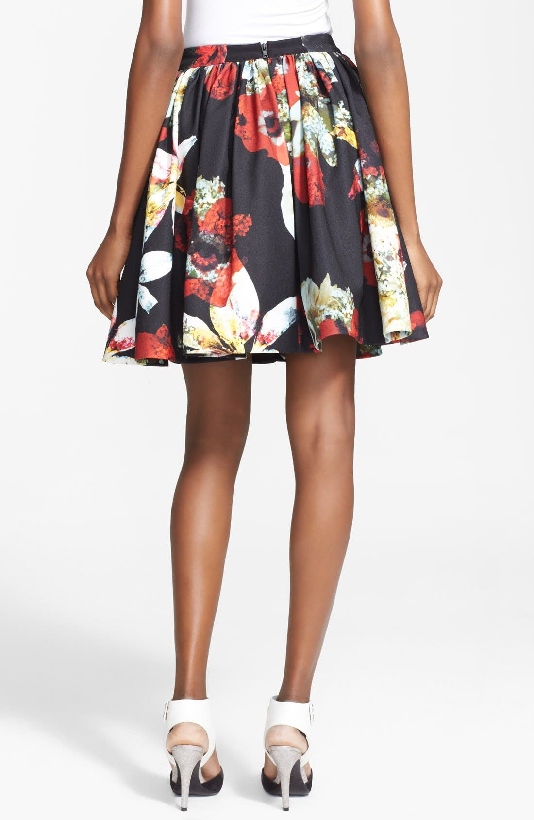Alternate Image 2  - Alice + Olivia 'Pia' Print Flared Skirt