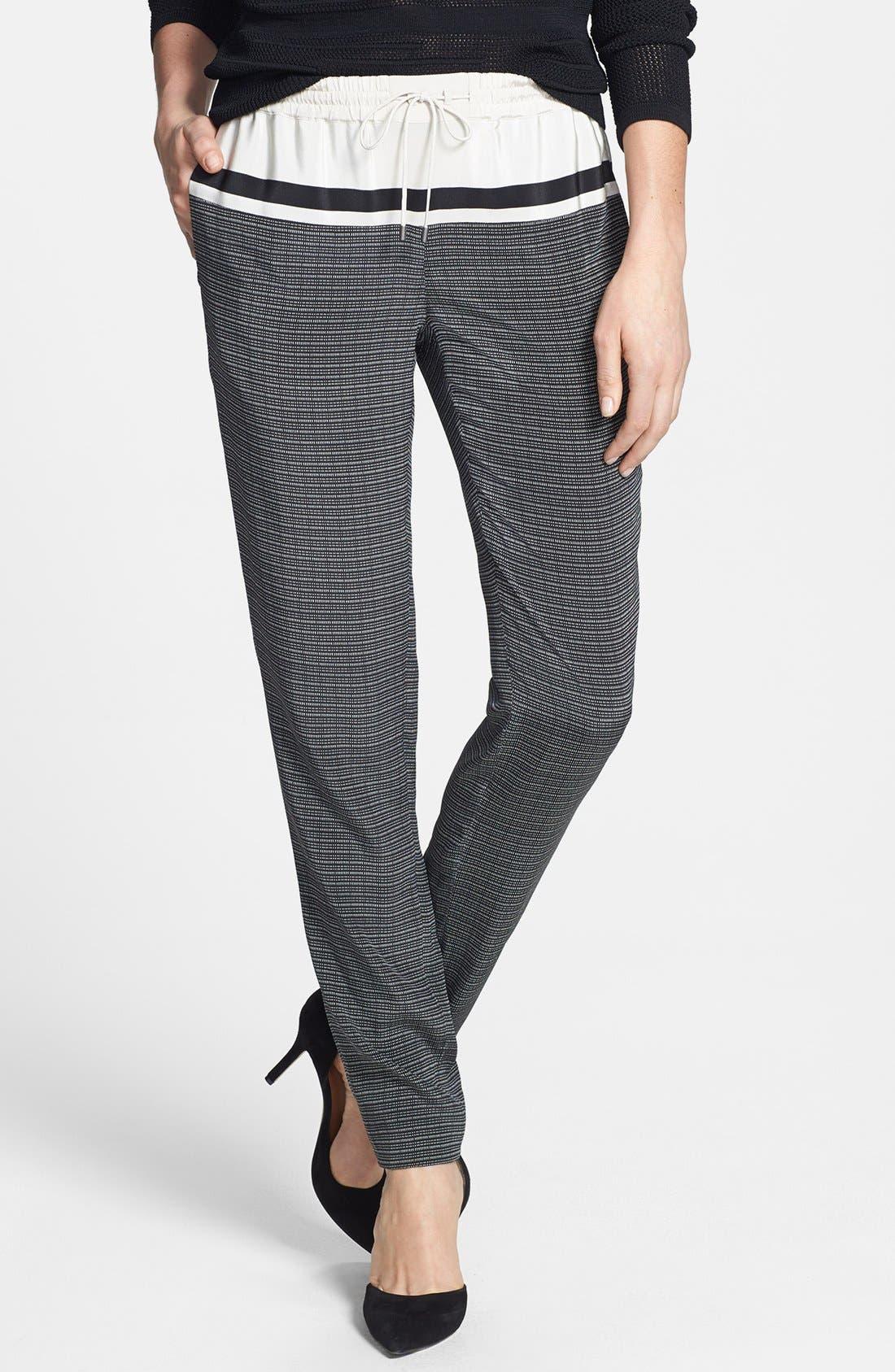 Main Image - Vince Print Silk Track Pants