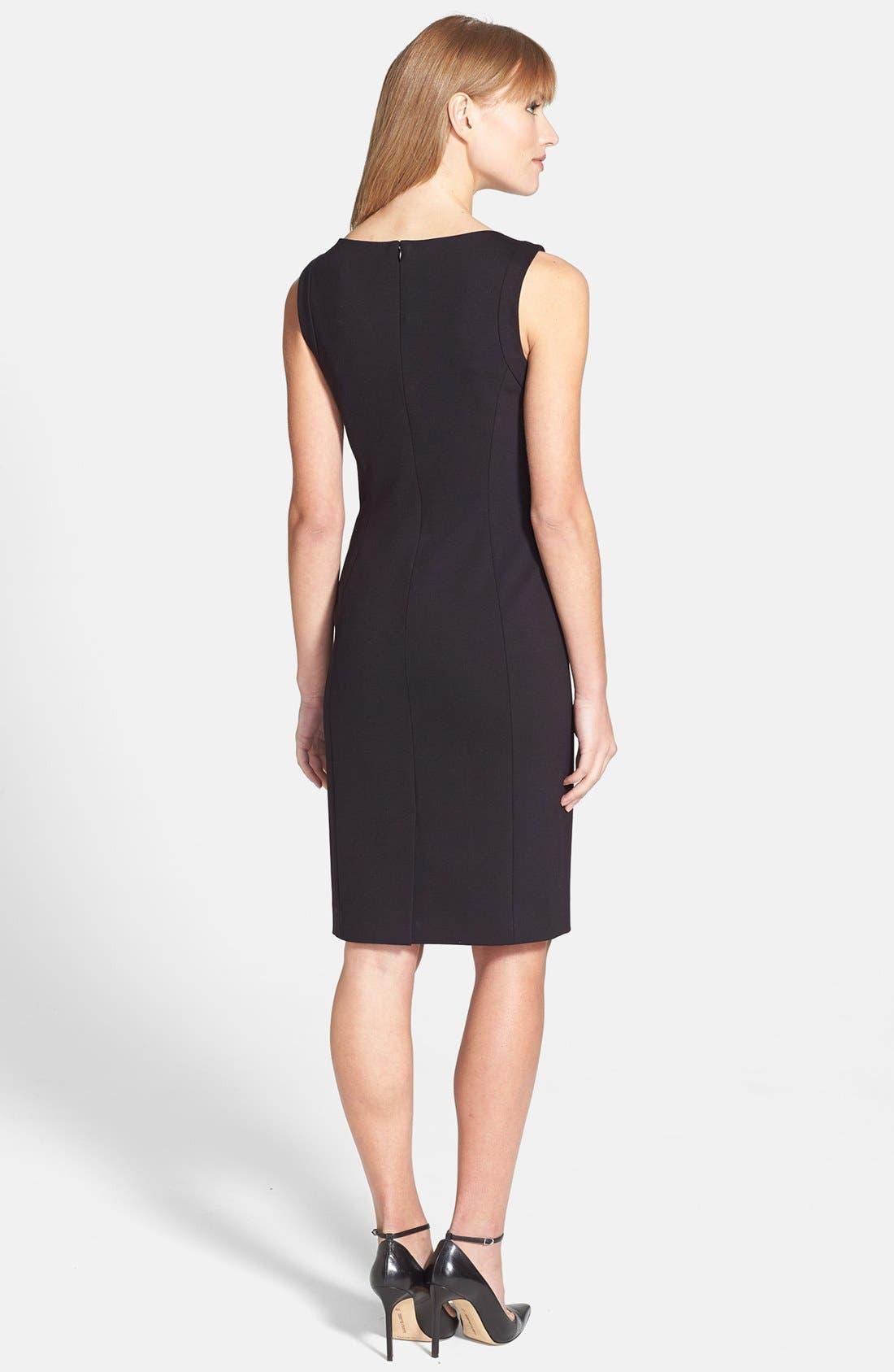 Alternate Image 2  - Classiques Entier® Faille & Ponte Dress
