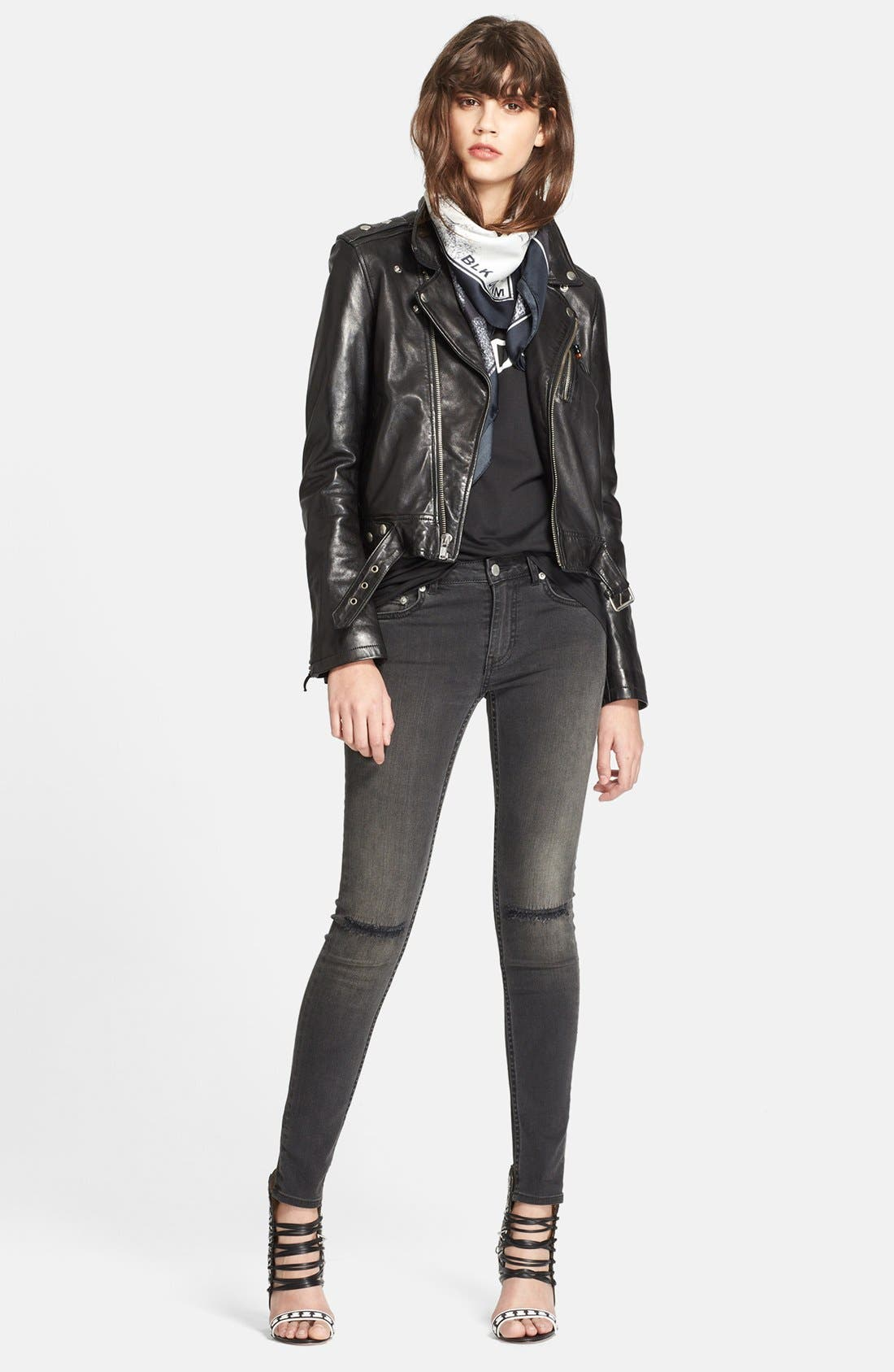 Alternate Image 4  - BLK DNM Lambskin Leather Jacket