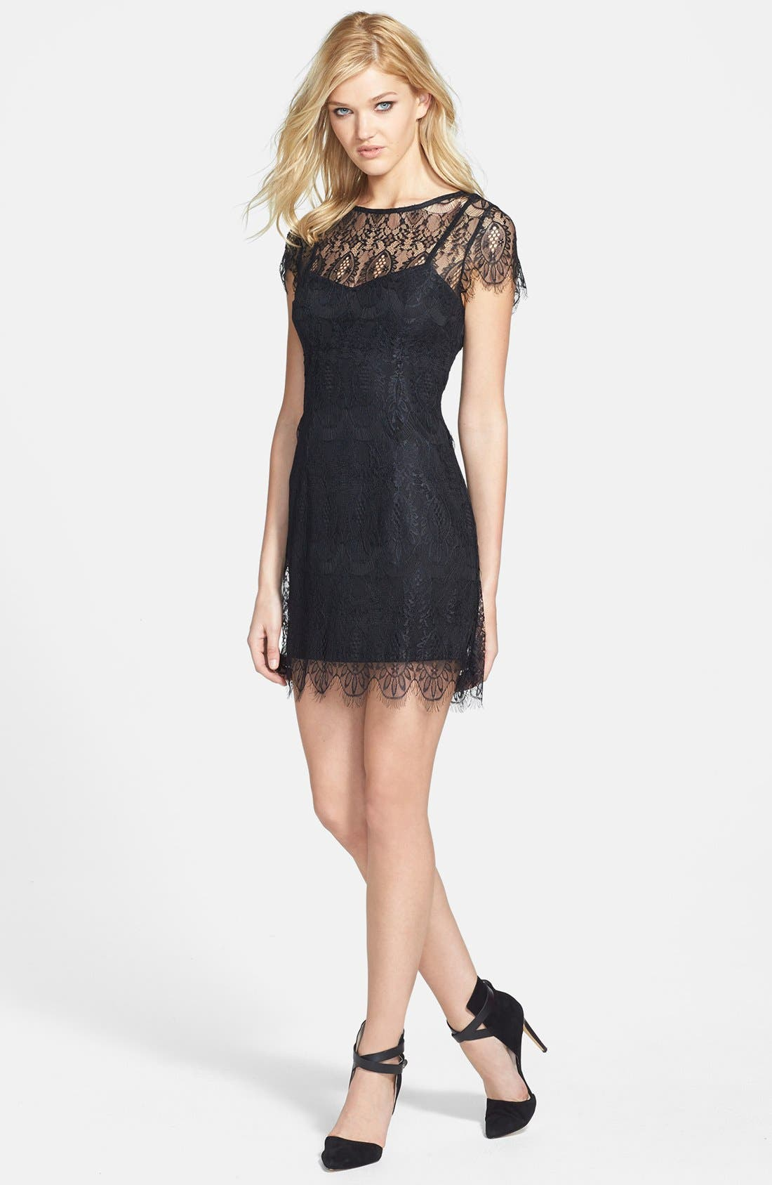 Main Image - MINKPINK 'Surrender' Illusion Yoke Lace Dress