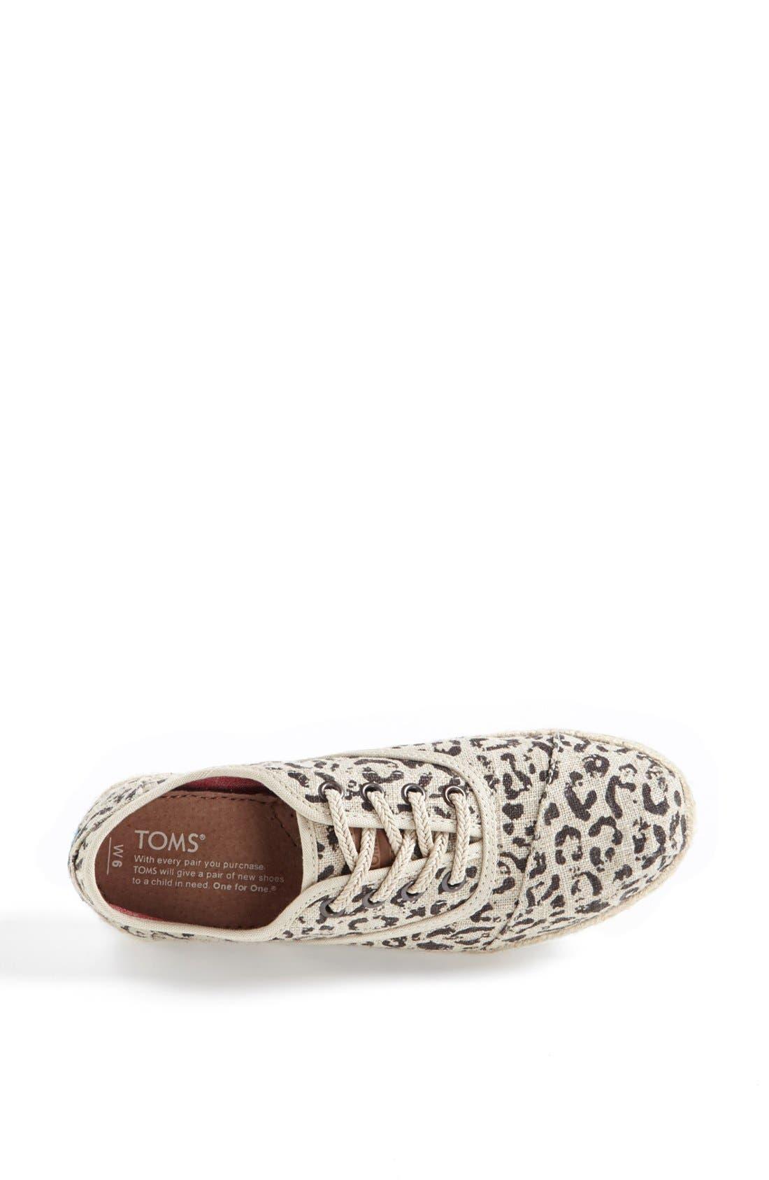 Alternate Image 3  - TOMS 'Cordones' Burlap Sneaker (Women)