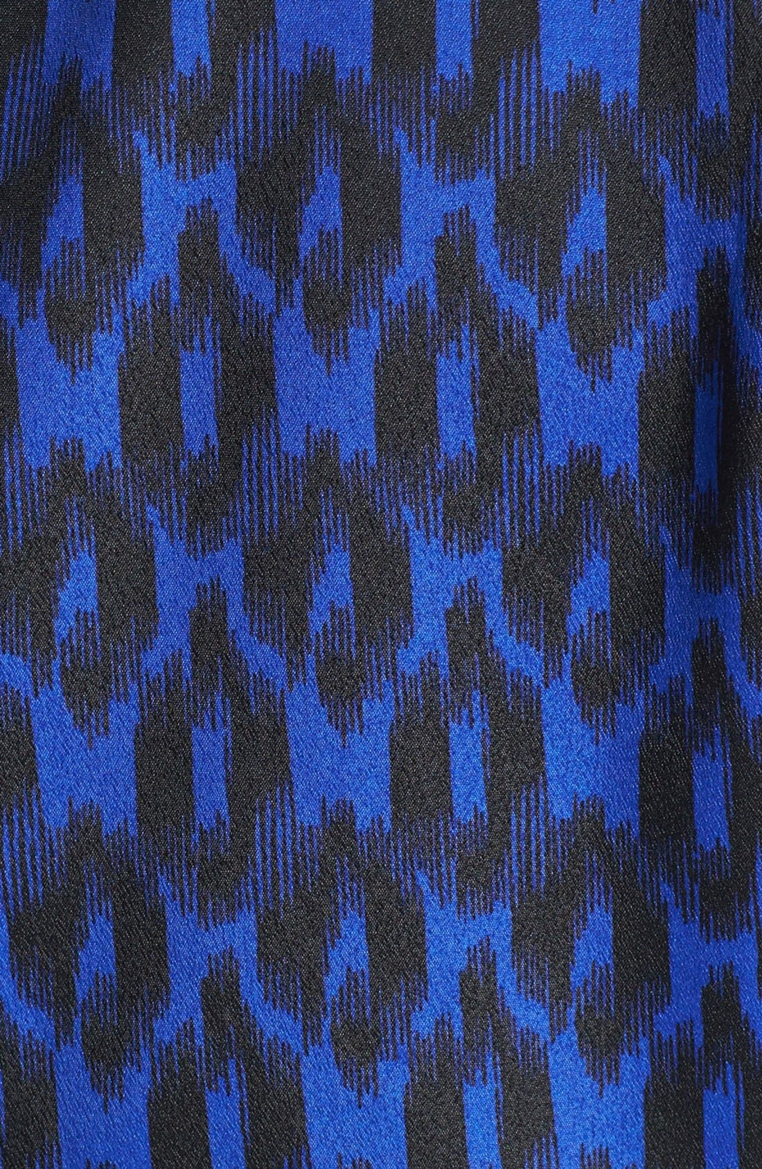 Alternate Image 4  - Collective Concepts Print Roll Sleeve Crêpe de Chine Shirtdress