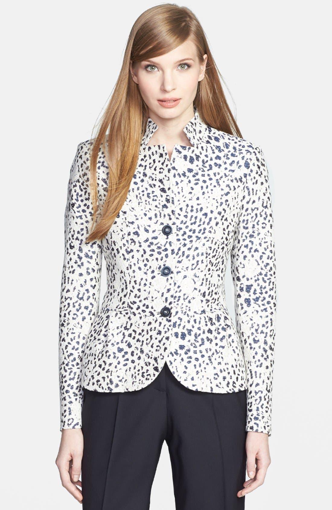 Main Image - Santorelli Leopard Jacquard Jacket