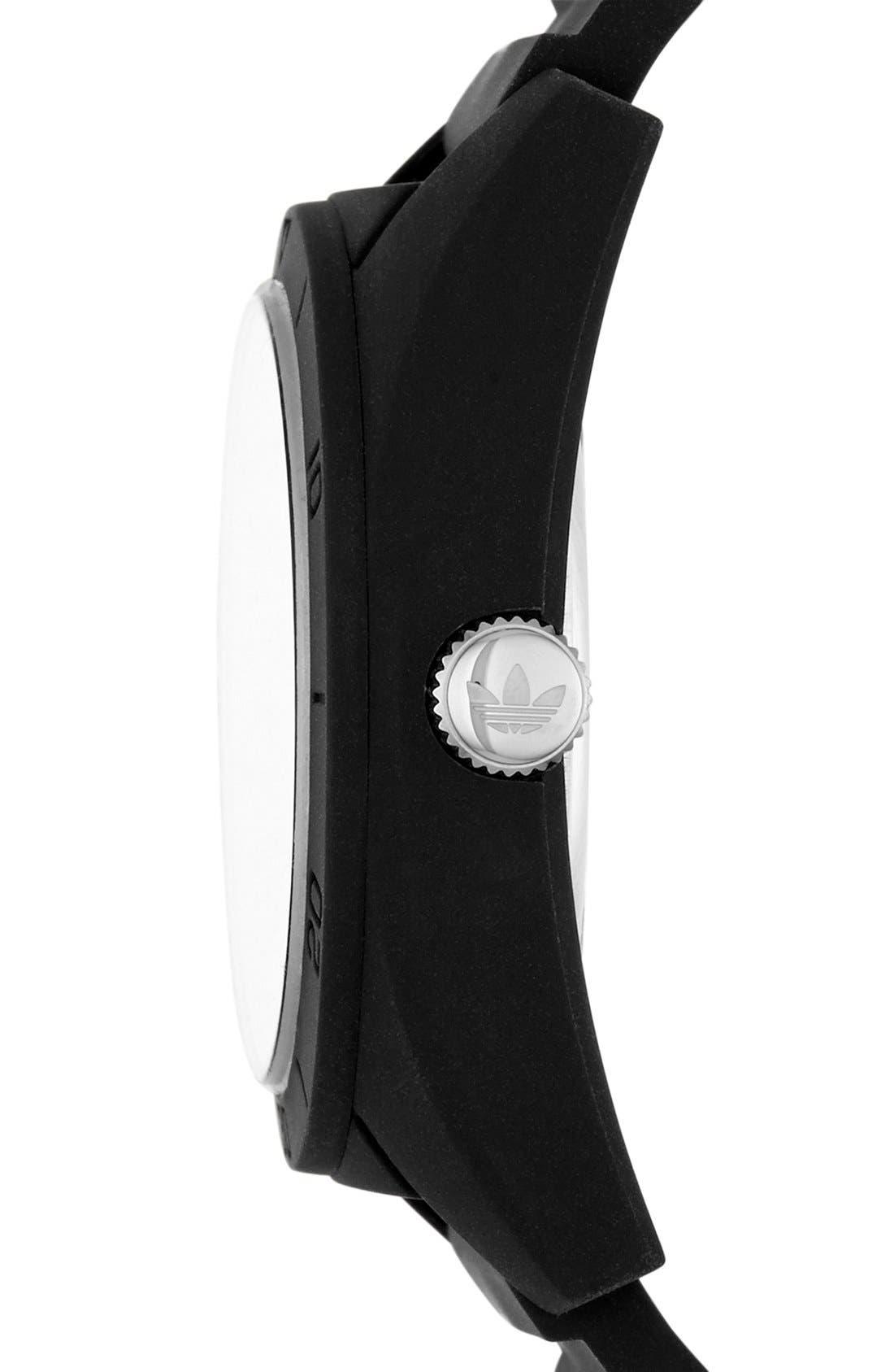 Alternate Image 3  - adidas Originals 'Santiago' Silicone Strap Watch, 42mm