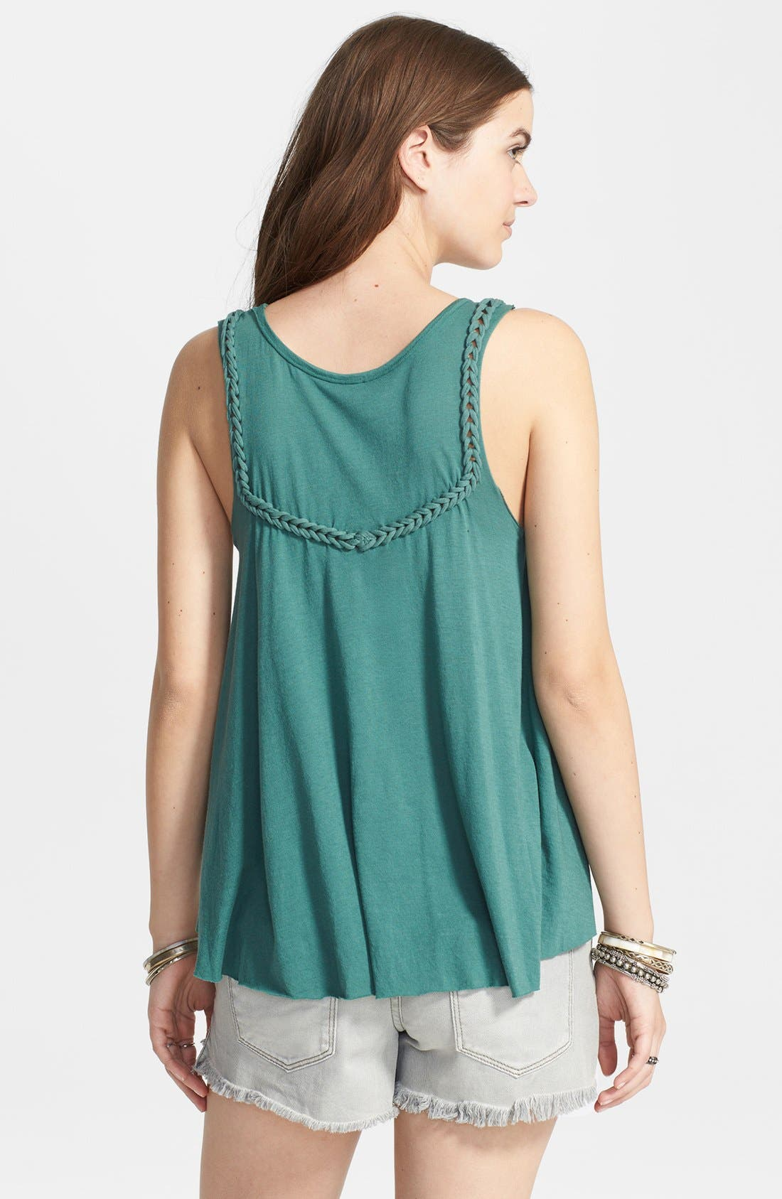 Alternate Image 2  - Free People 'Free Falling' Braided Trim Ruffle Tank