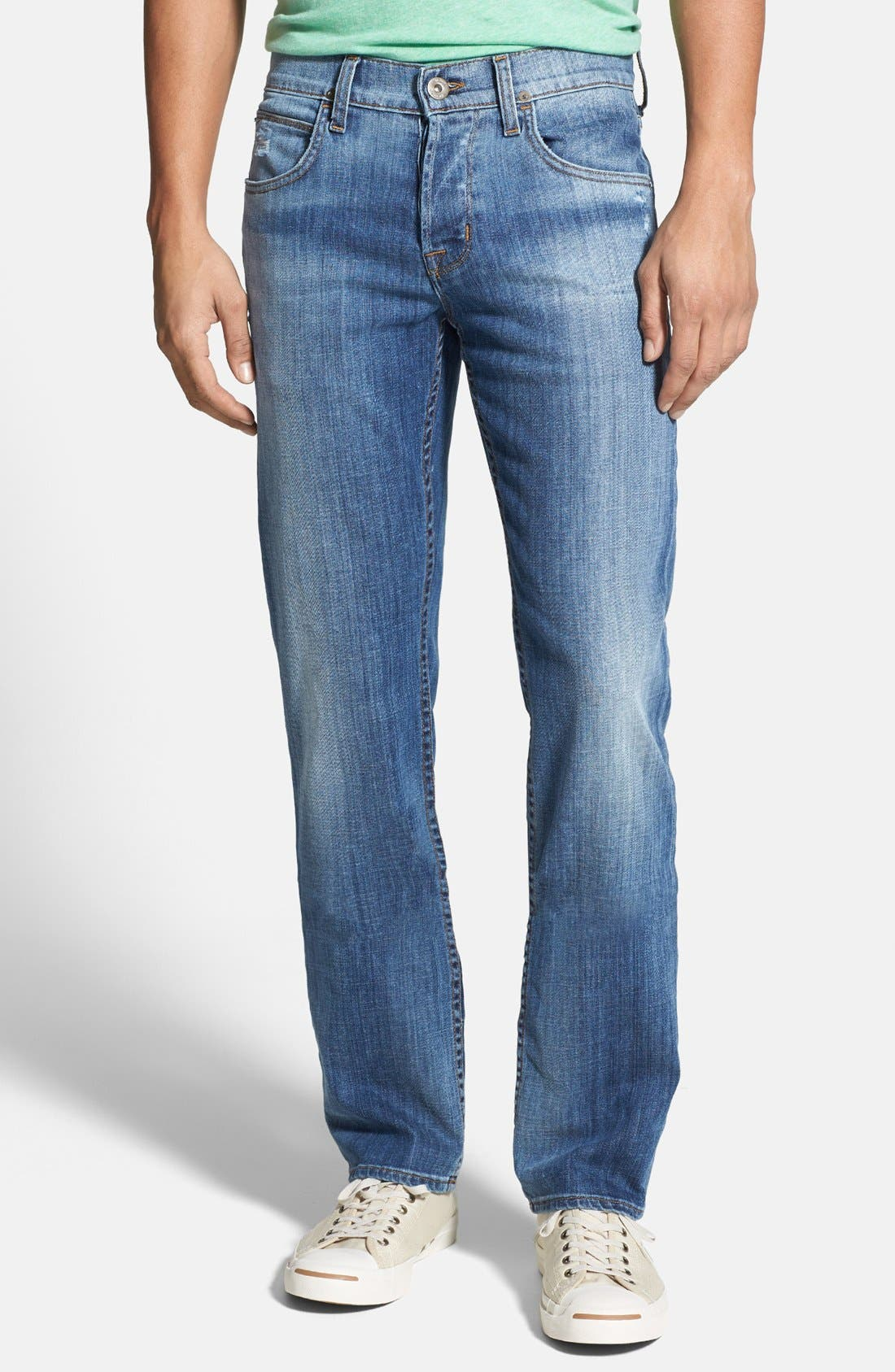 Alternate Image 1 Selected - Hudson Jeans 'Byron' Straight Leg Jeans (Highway)