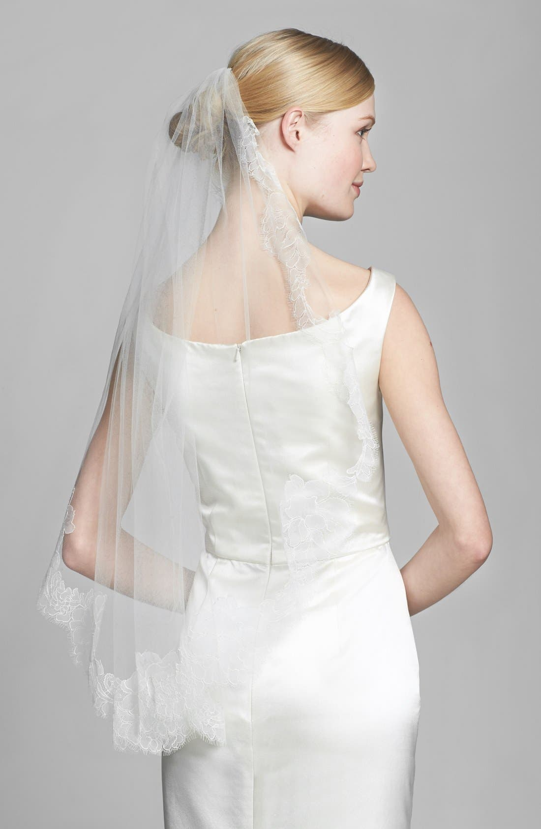 Alternate Image 1 Selected - Veil Trends 'Alexa' Chantilly Lace Veil